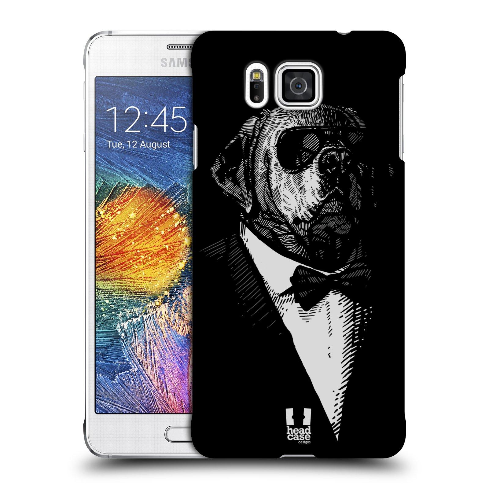HEAD CASE plastový obal na mobil SAMSUNG Galaxy Alpha (G850) vzor Zvíře v obleku pes