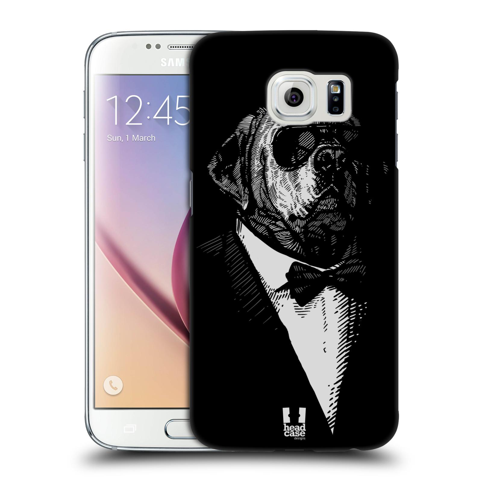HEAD CASE plastový obal na mobil SAMSUNG Galaxy S6 (G9200, G920F) vzor Zvíře v obleku pes