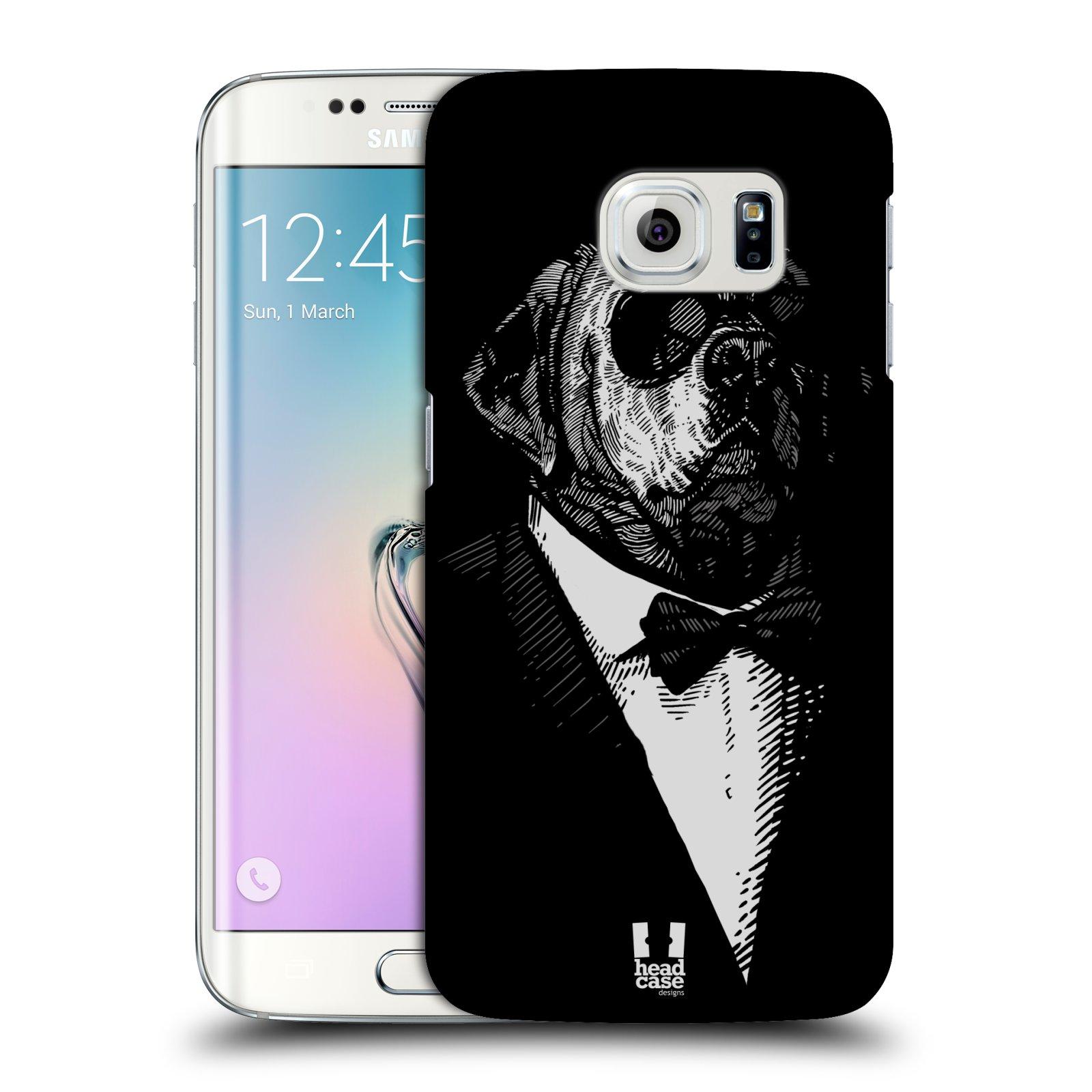 HEAD CASE plastový obal na mobil SAMSUNG Galaxy S6 EDGE (G9250, G925, G925F) vzor Zvíře v obleku pes