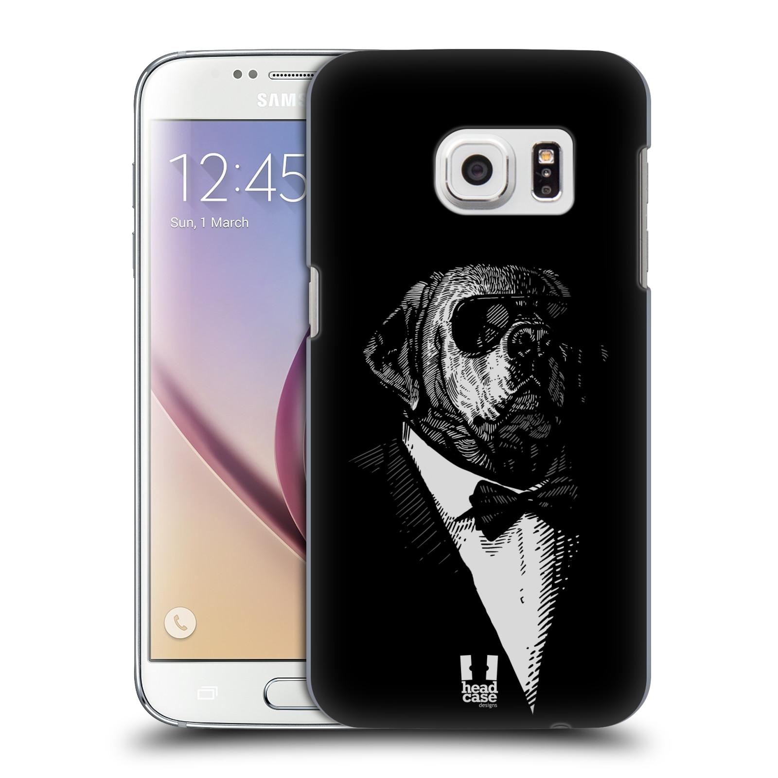 HEAD CASE plastový obal na mobil SAMSUNG GALAXY S7 vzor Zvíře v obleku pes