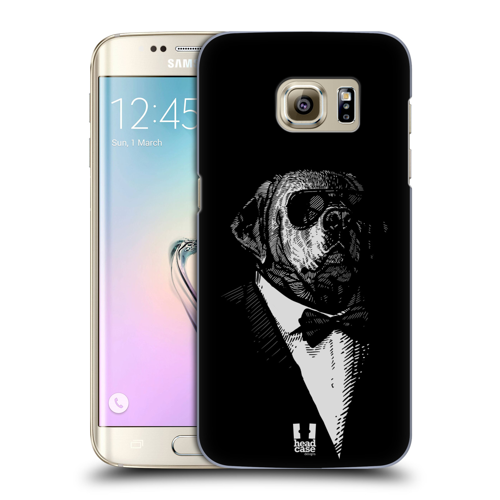 HEAD CASE plastový obal na mobil SAMSUNG GALAXY S7 EDGE vzor Zvíře v obleku pes