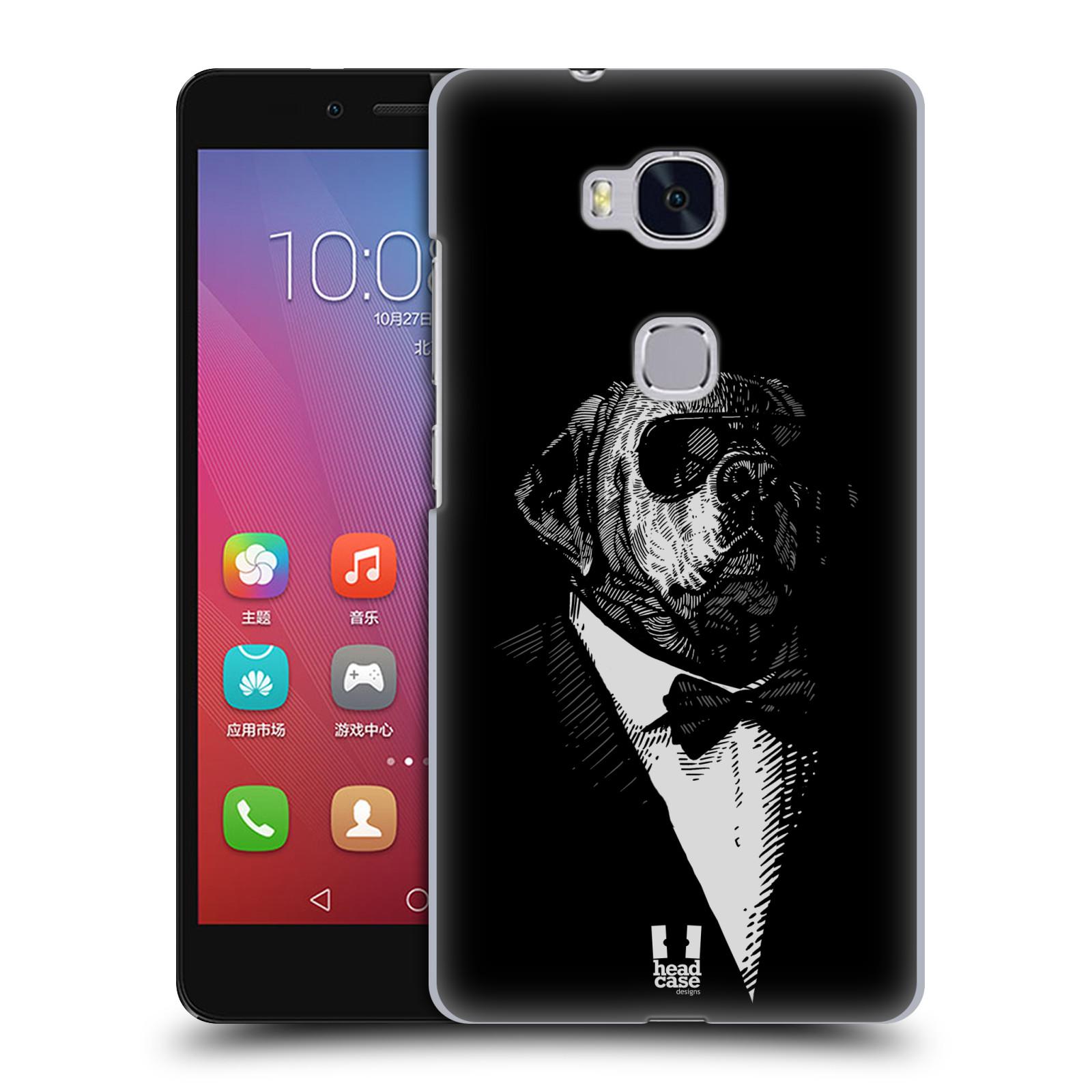 HEAD CASE pevný plastový obal na mobil HUAWEI HONOR 5X vzor Zvíře v obleku pes