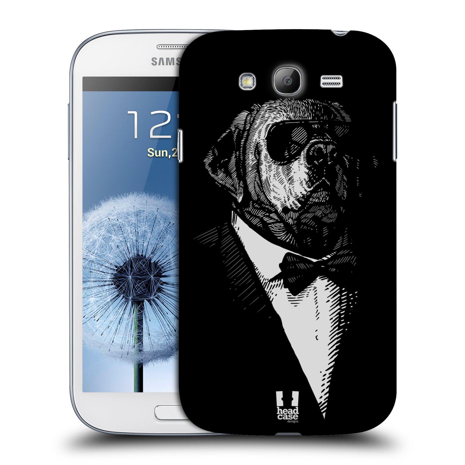 HEAD CASE plastový obal na mobil SAMSUNG GALAXY Grand i9080 vzor Zvíře v obleku pes
