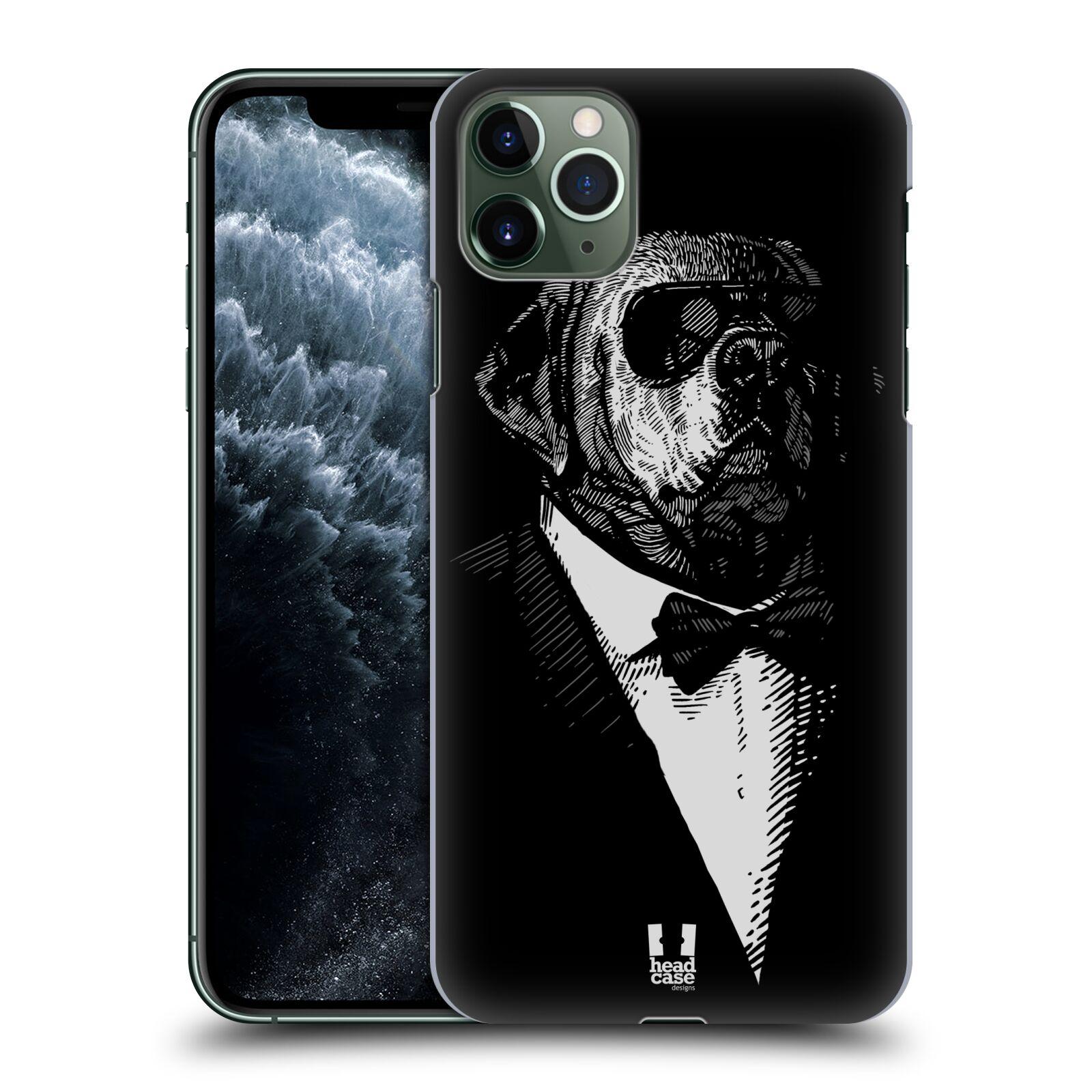 Pouzdro na mobil Apple Iphone 11 PRO MAX - HEAD CASE - vzor Zvíře v obleku pes