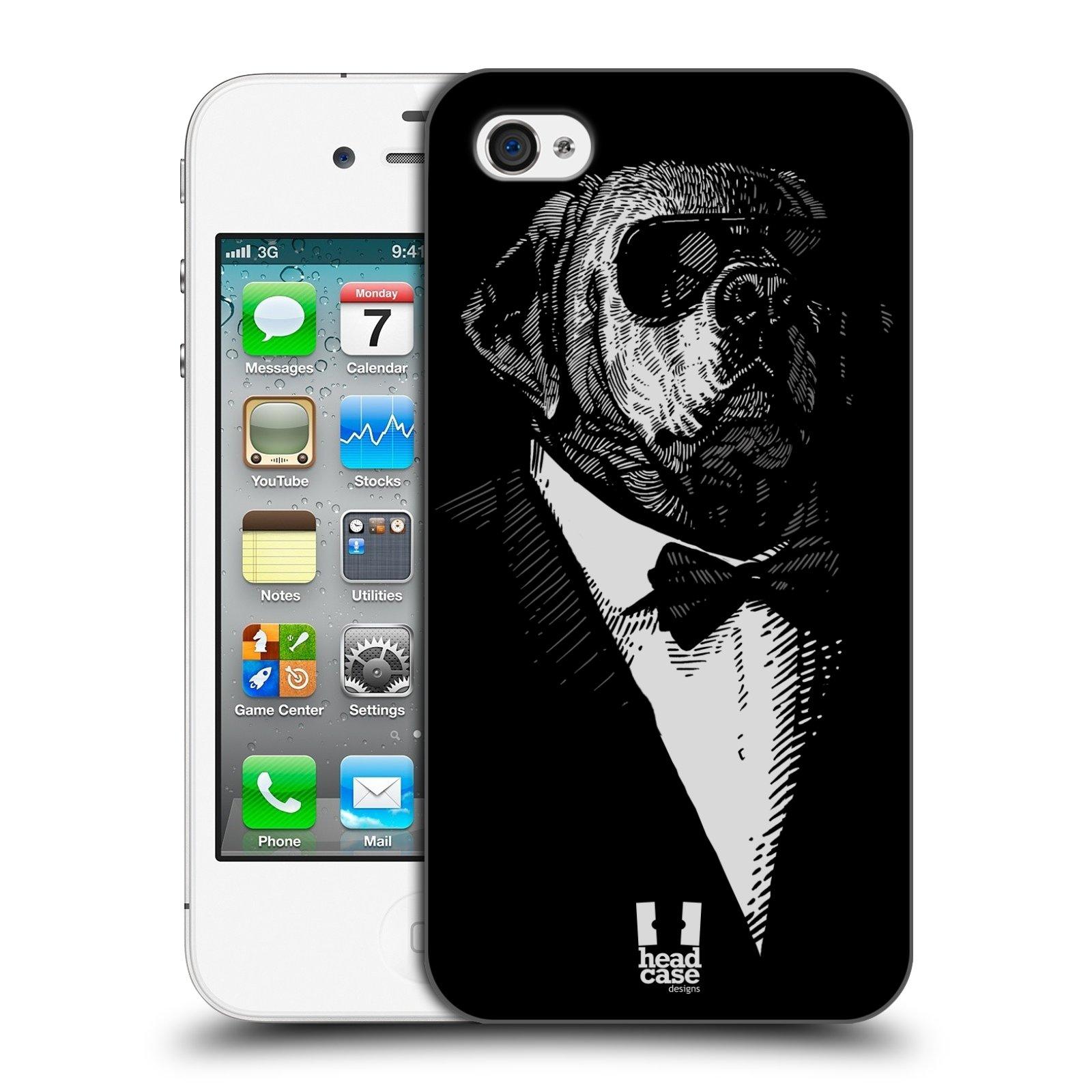 HEAD CASE plastový obal na mobil Apple Iphone 4/4S vzor Zvíře v obleku pes