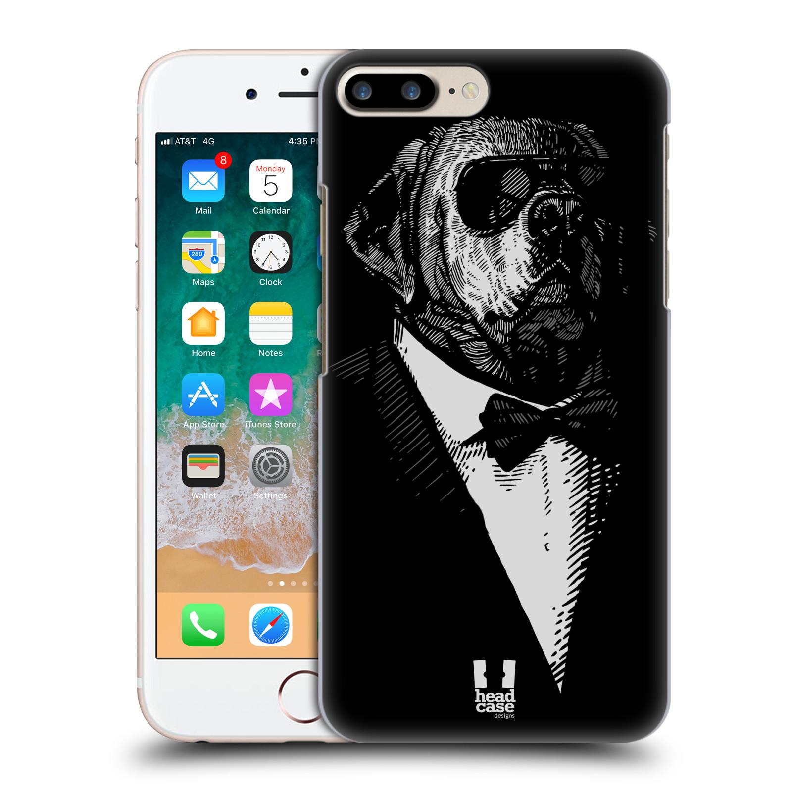 HEAD CASE plastový obal na mobil Apple Iphone 7 PLUS vzor Zvíře v obleku pes