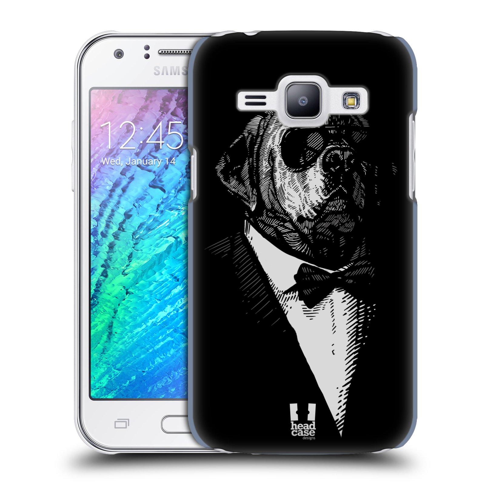 HEAD CASE plastový obal na mobil SAMSUNG Galaxy J1, J100 vzor Zvíře v obleku pes