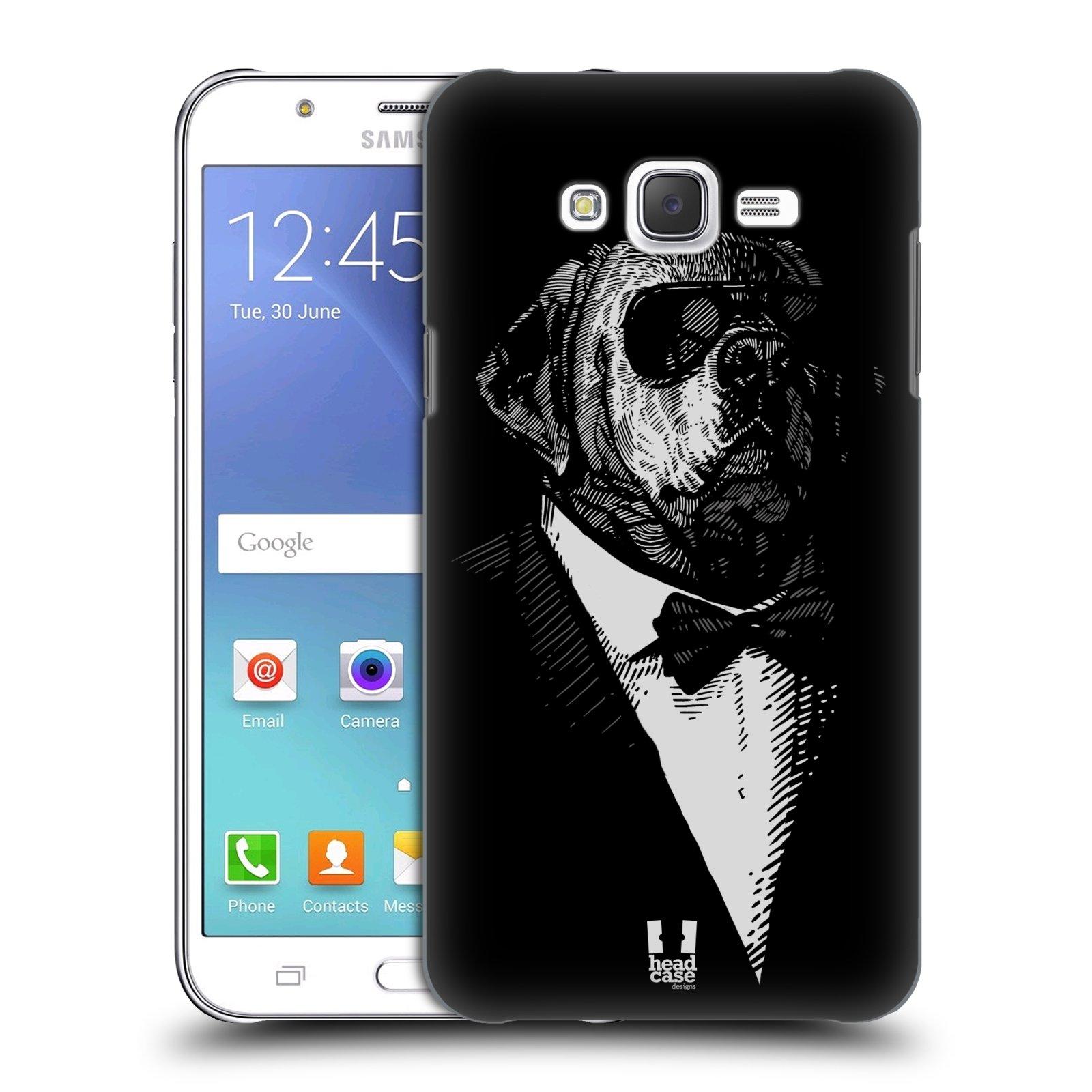 HEAD CASE plastový obal na mobil SAMSUNG Galaxy J7, J700 vzor Zvíře v obleku pes
