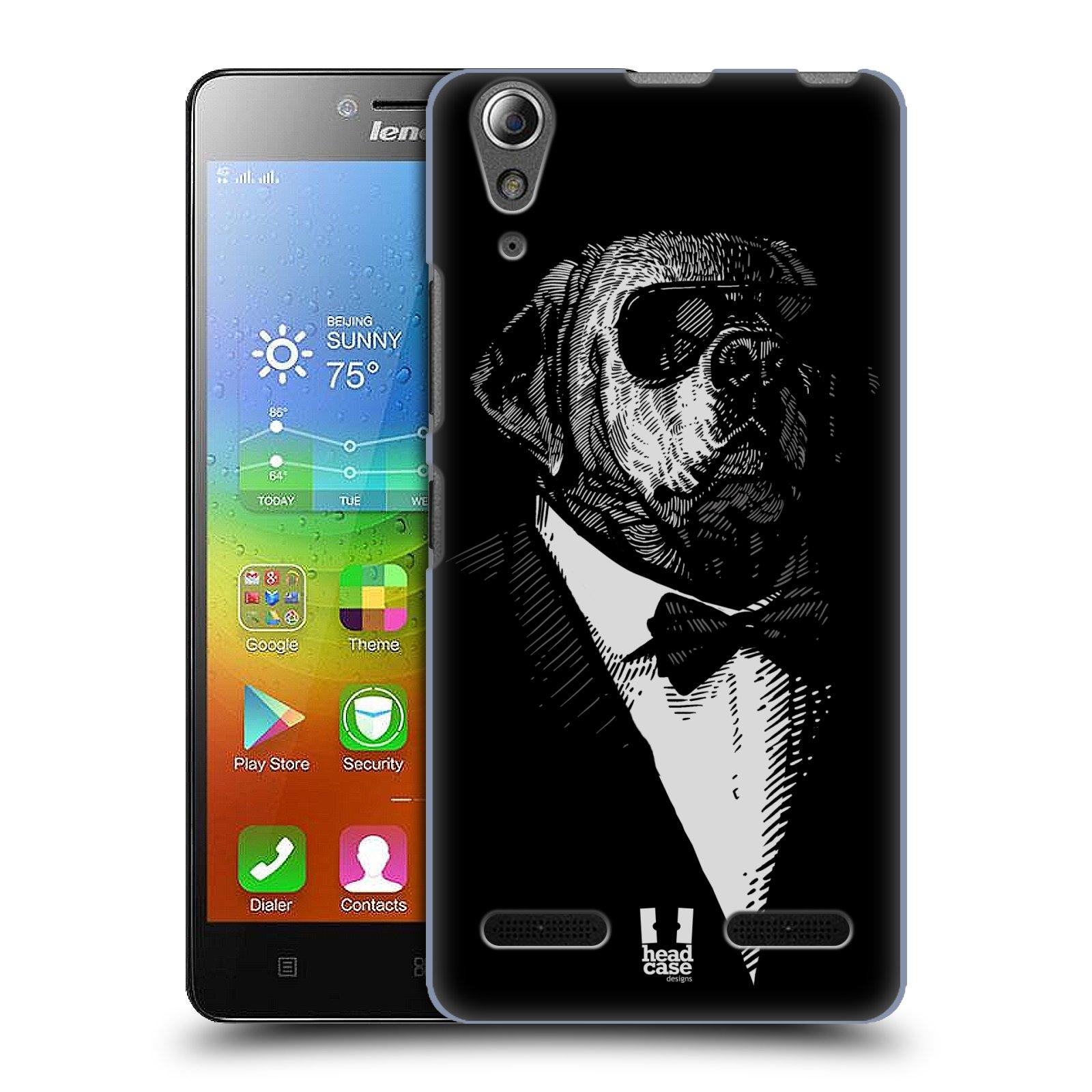 HEAD CASE pevný plastový obal na mobil LENOVO A6000 / A6000 PLUS vzor Zvíře v obleku pes