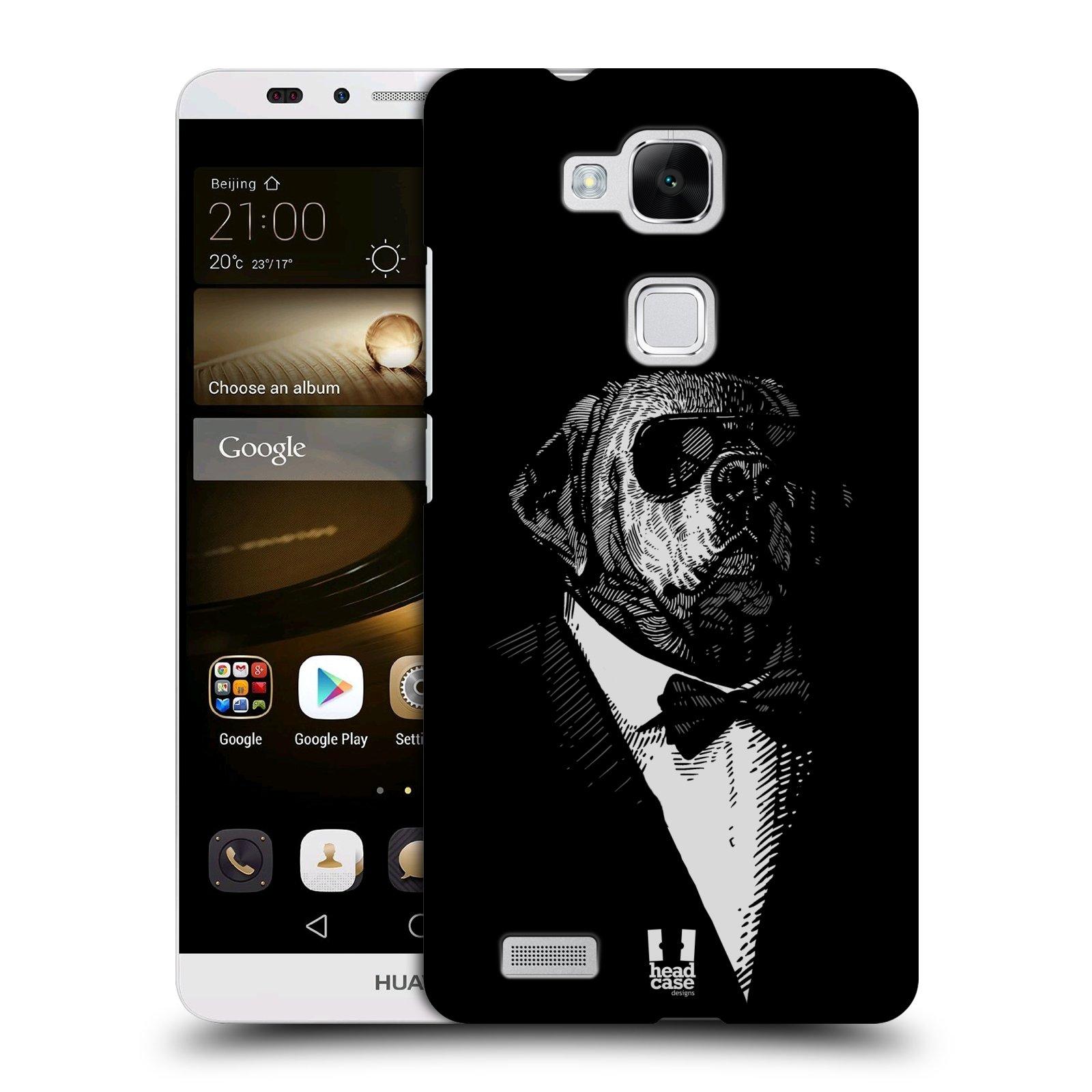 HEAD CASE plastový obal na mobil Huawei Mate 7 vzor Zvíře v obleku pes