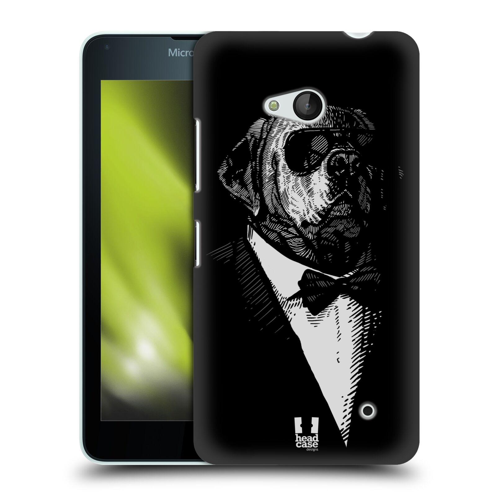 HEAD CASE plastový obal na mobil Nokia Lumia 640 vzor Zvíře v obleku pes