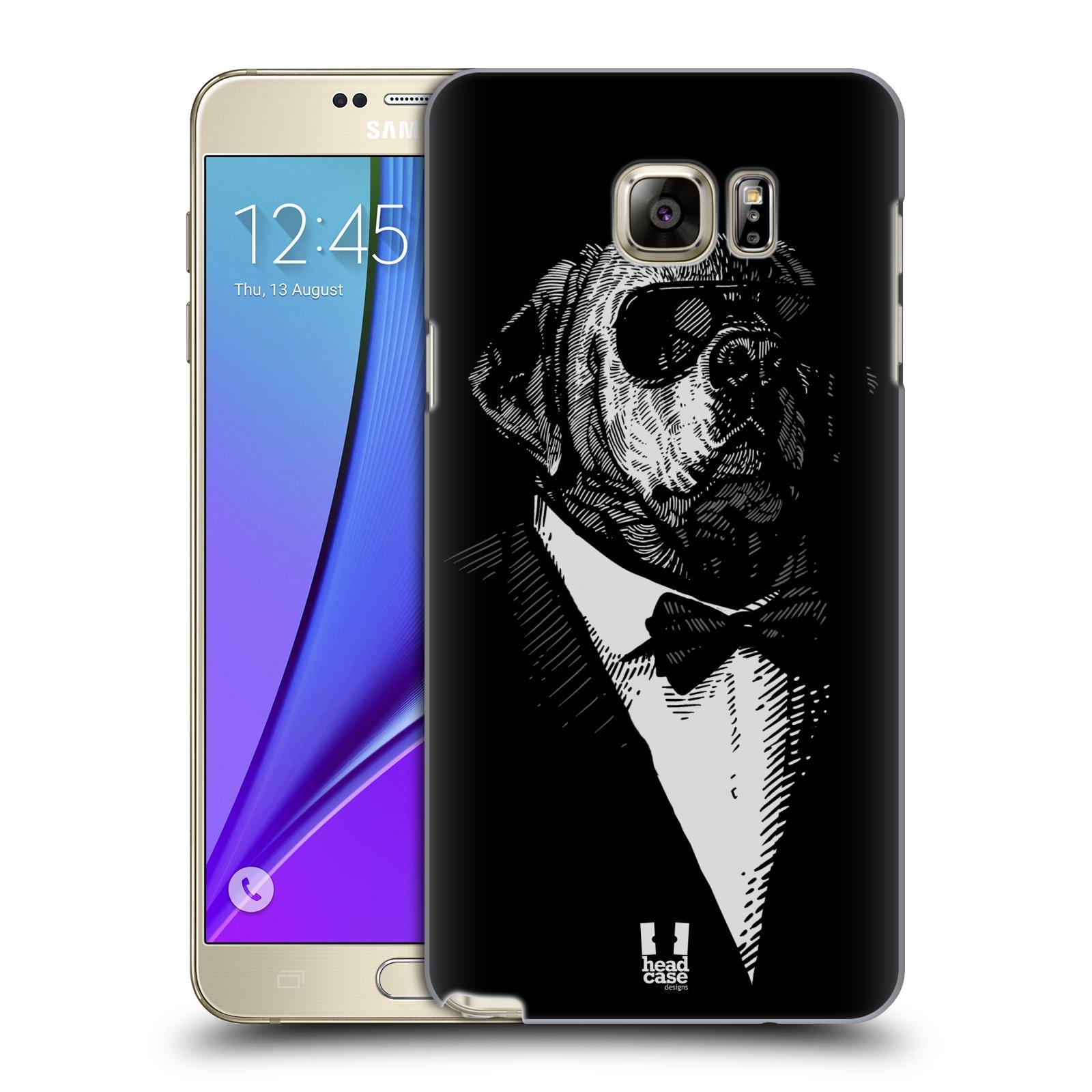 HEAD CASE plastový obal na mobil SAMSUNG Galaxy Note 5 (N920) vzor Zvíře v obleku pes