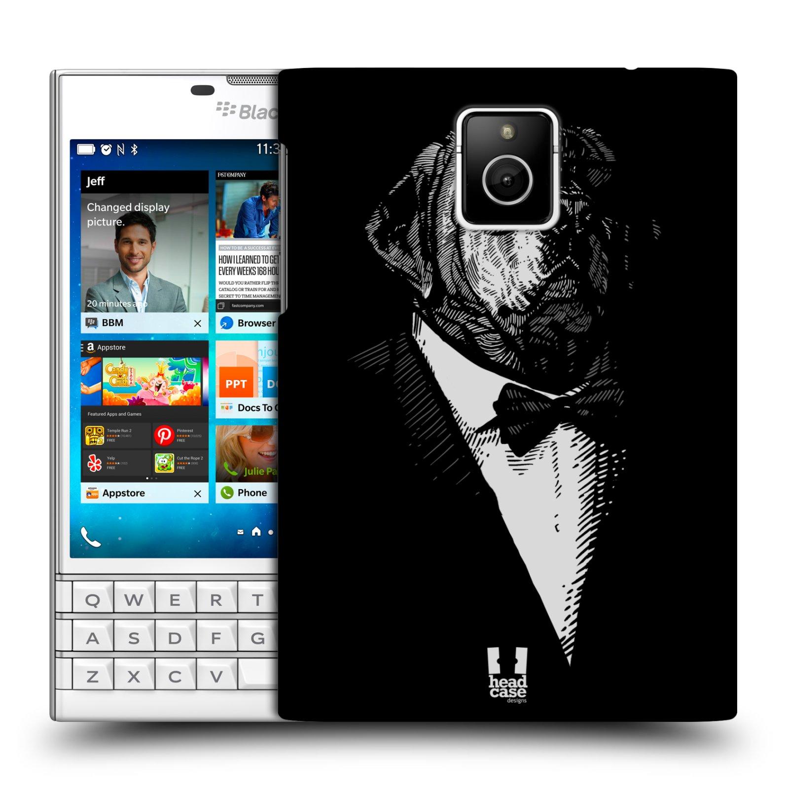 HEAD CASE plastový obal na mobil BlackBerry Passport vzor Zvíře v obleku pes