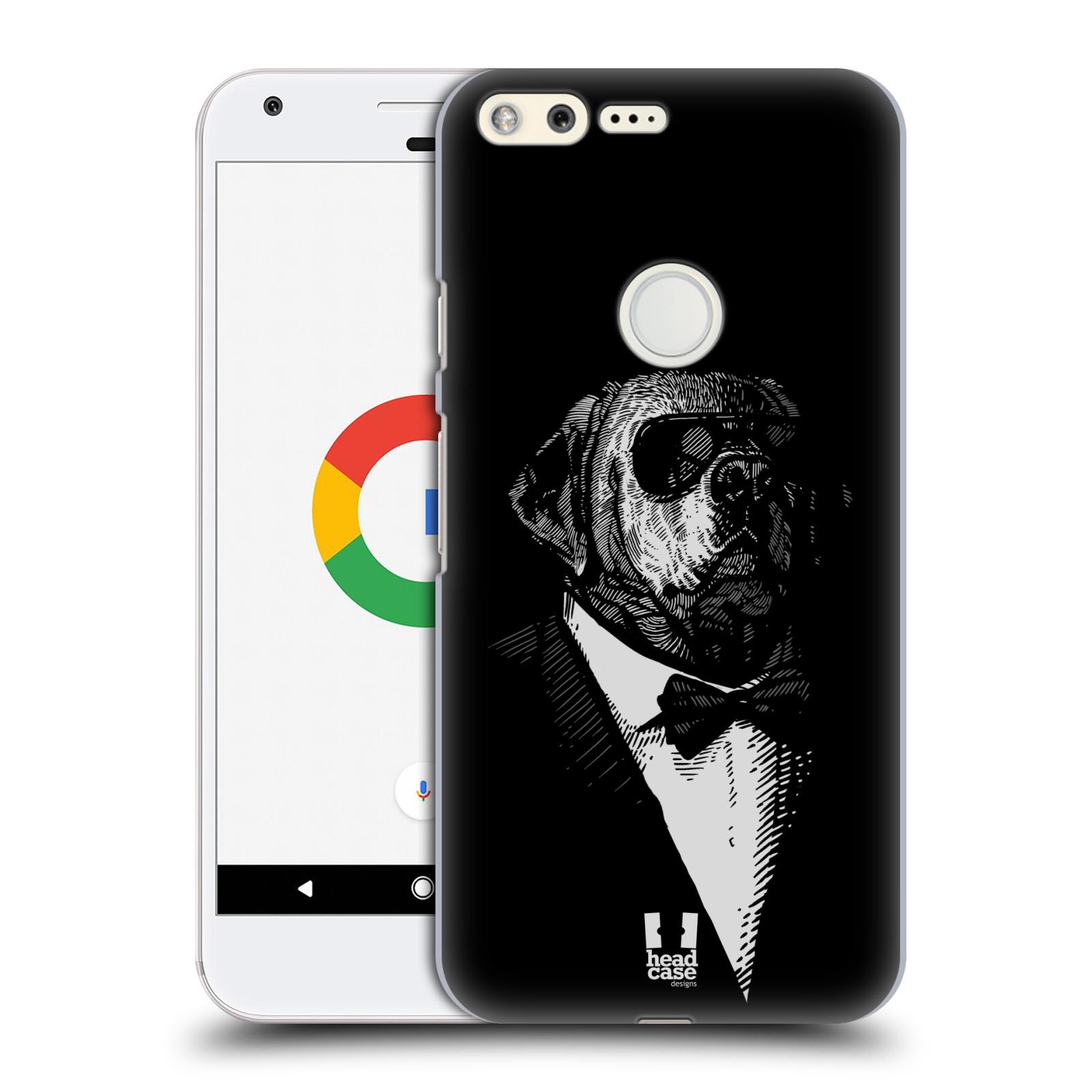 HEAD CASE plastový obal na mobil GOOGLE Pixel vzor Zvíře v obleku pes