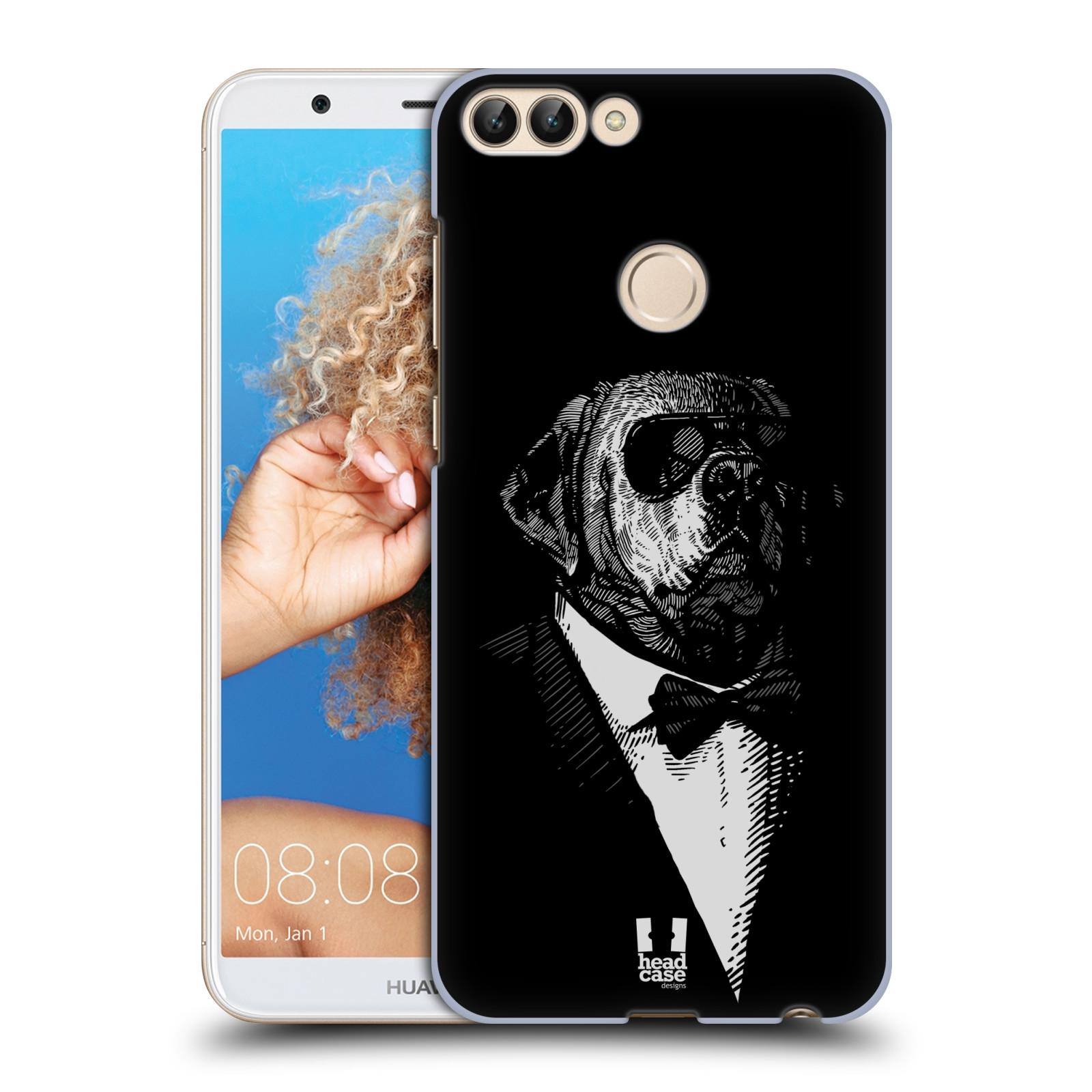 HEAD CASE plastový obal na mobil Huawei P Smart vzor Zvíře v obleku pes
