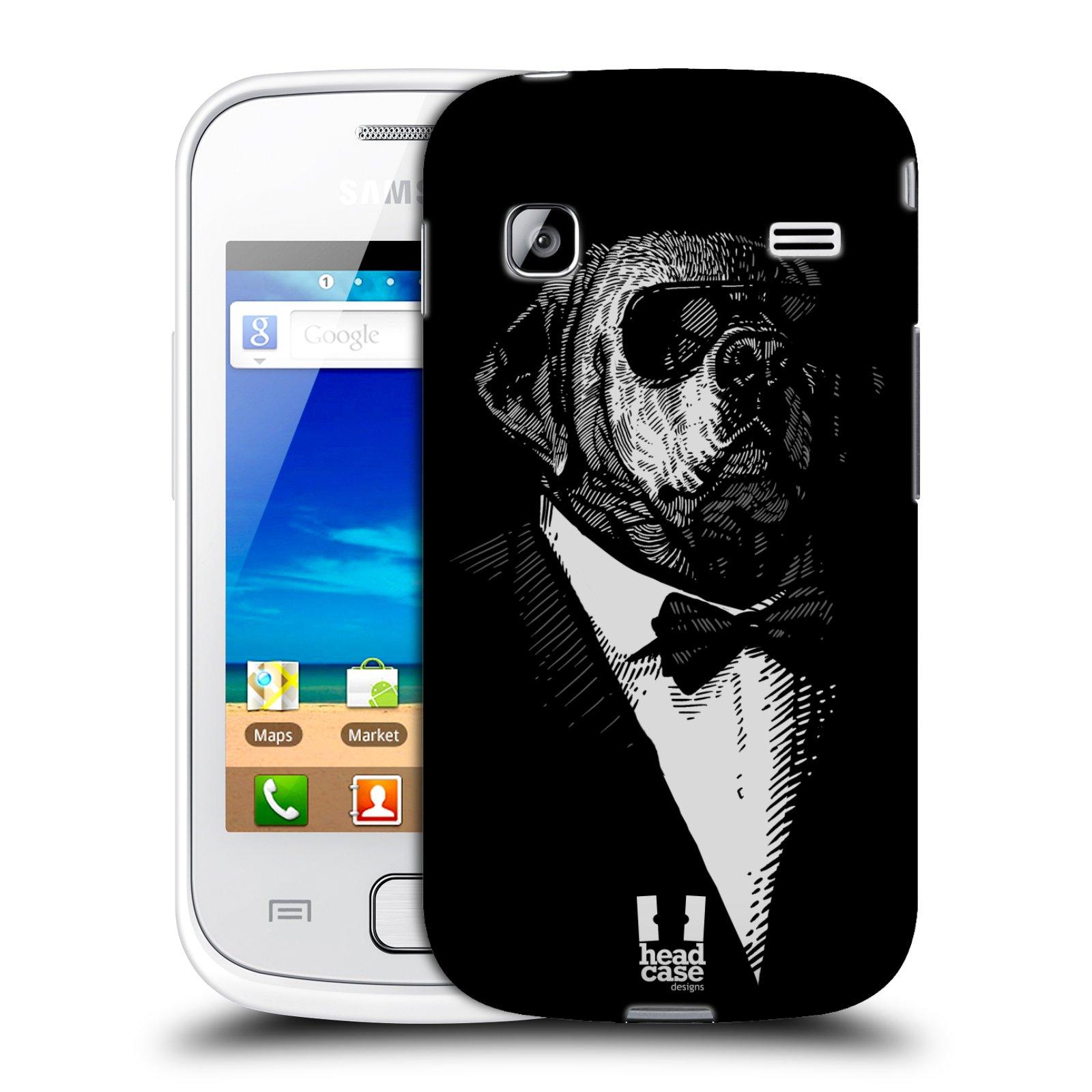 HEAD CASE plastový obal na mobil SAMSUNG GALAXY GIO (S5660) vzor Zvíře v obleku pes