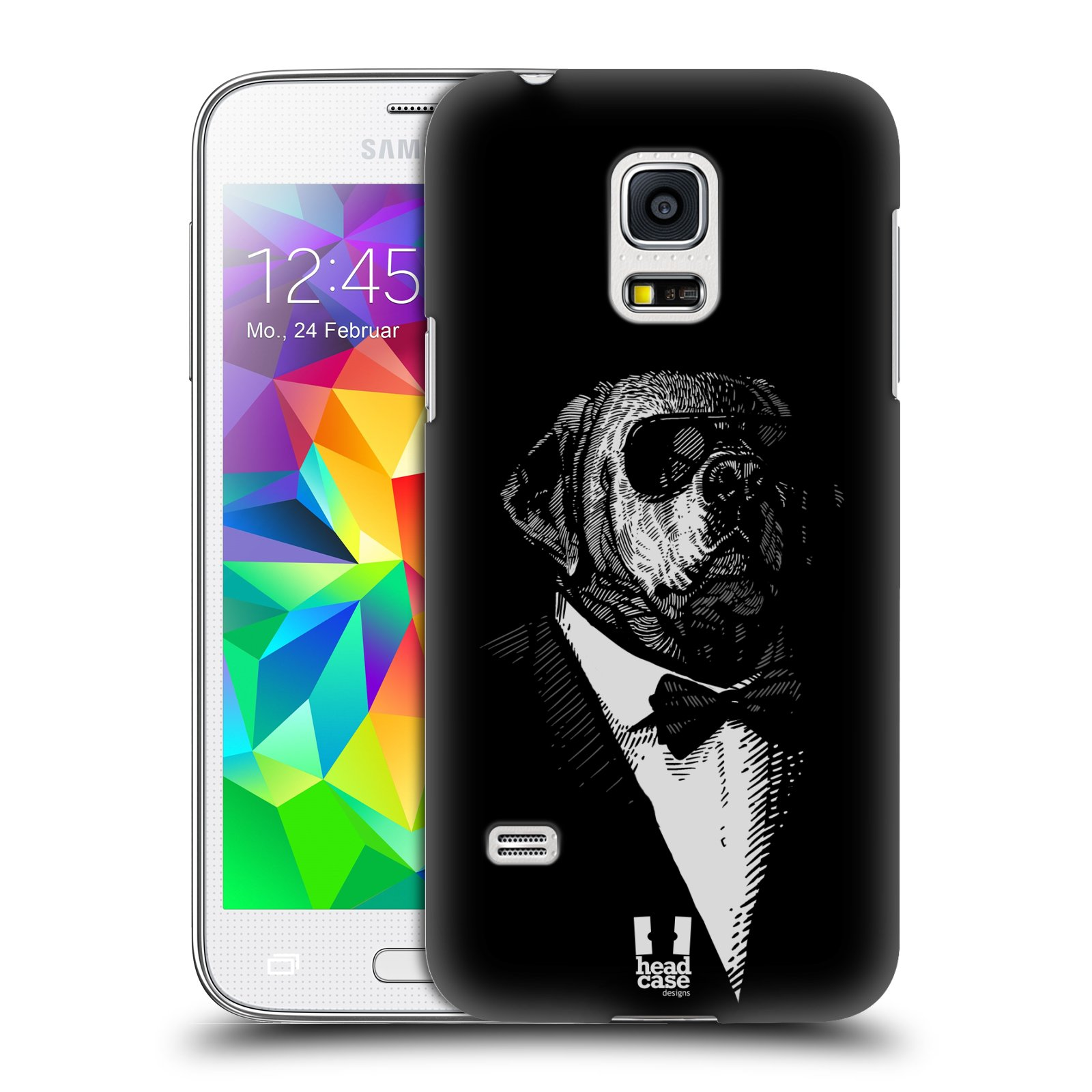 HEAD CASE plastový obal na mobil SAMSUNG Galaxy S5 MINI / S5 MINI DUOS vzor Zvíře v obleku pes