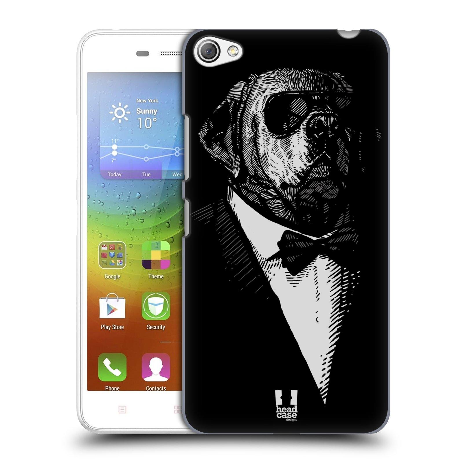 HEAD CASE pevný plastový obal na mobil LENOVO S60 / LENOVO S60 DUAL SIM vzor Zvíře v obleku pes