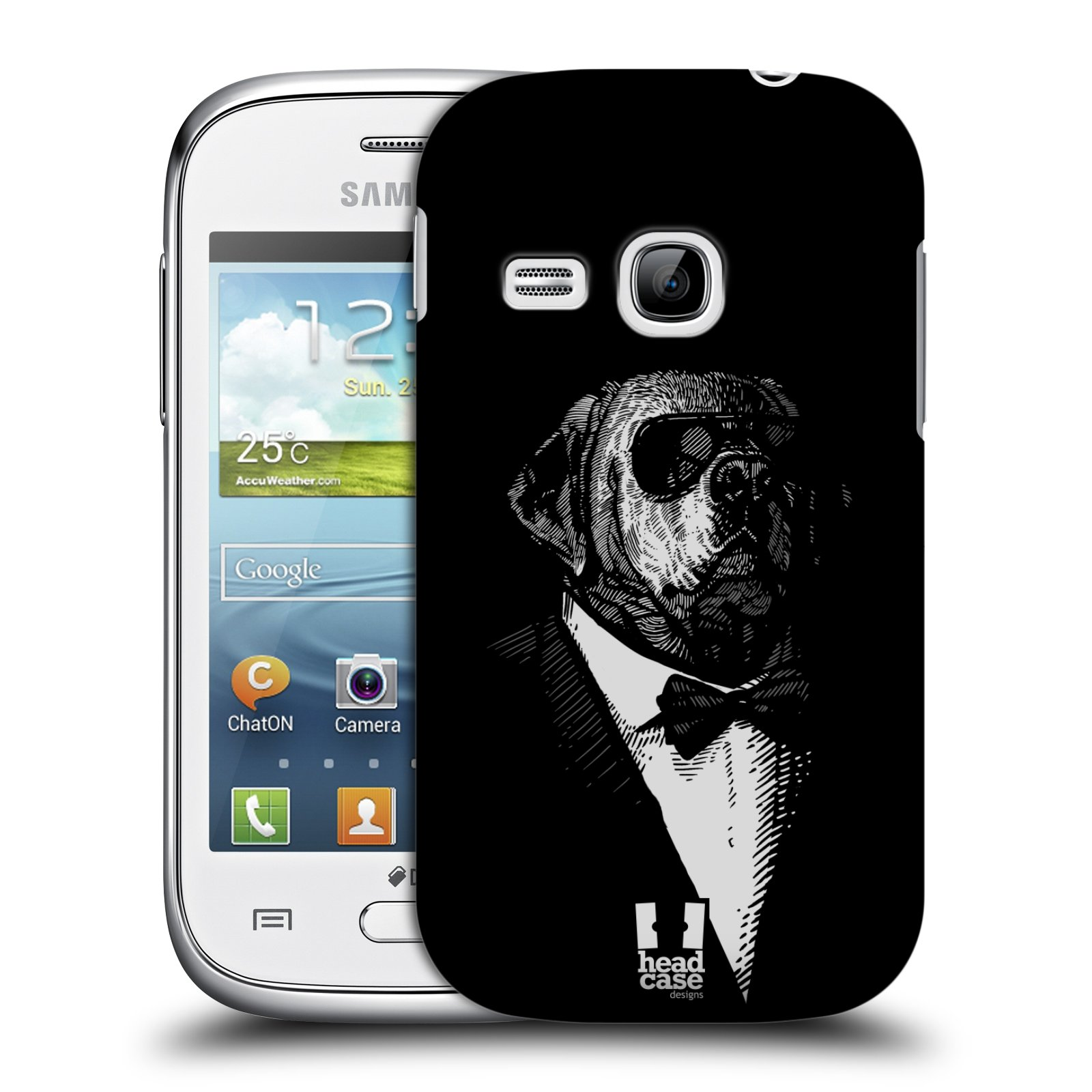 HEAD CASE plastový obal na mobil SAMSUNG Galaxy Young S6310 vzor Zvíře v obleku pes