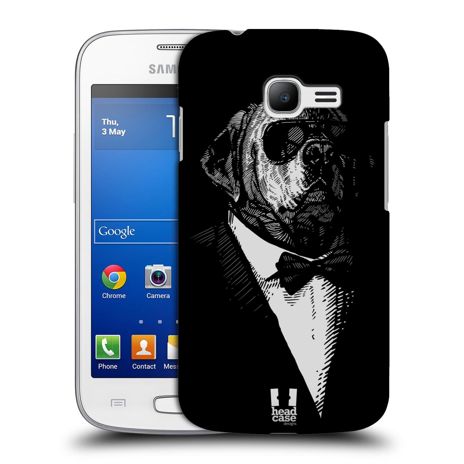 HEAD CASE plastový obal na mobil SAMSUNG GALAXY Star Pro S7260/S7262 DUOS vzor Zvíře v obleku pes