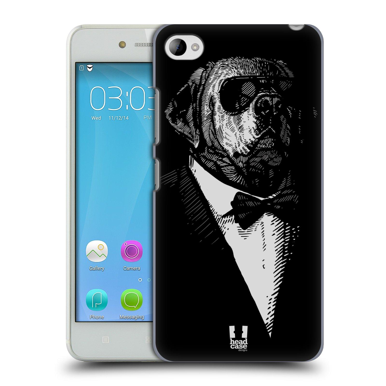 HEAD CASE pevný plastový obal na mobil LENOVO S90 vzor Zvíře v obleku pes