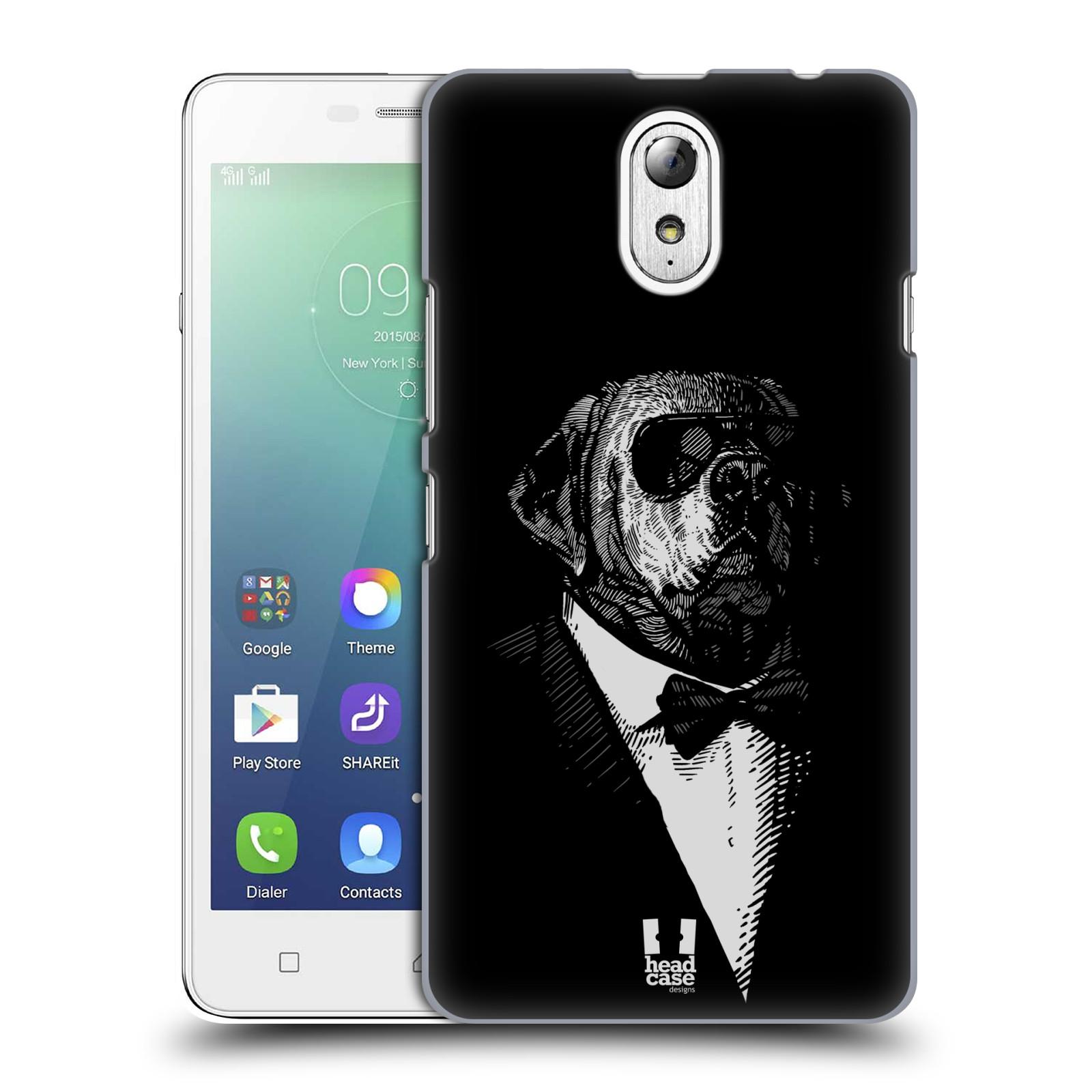 HEAD CASE pevný plastový obal na mobil LENOVO VIBE P1m / LENOVO VIBE p1m DUAL SIM vzor Zvíře v obleku pes