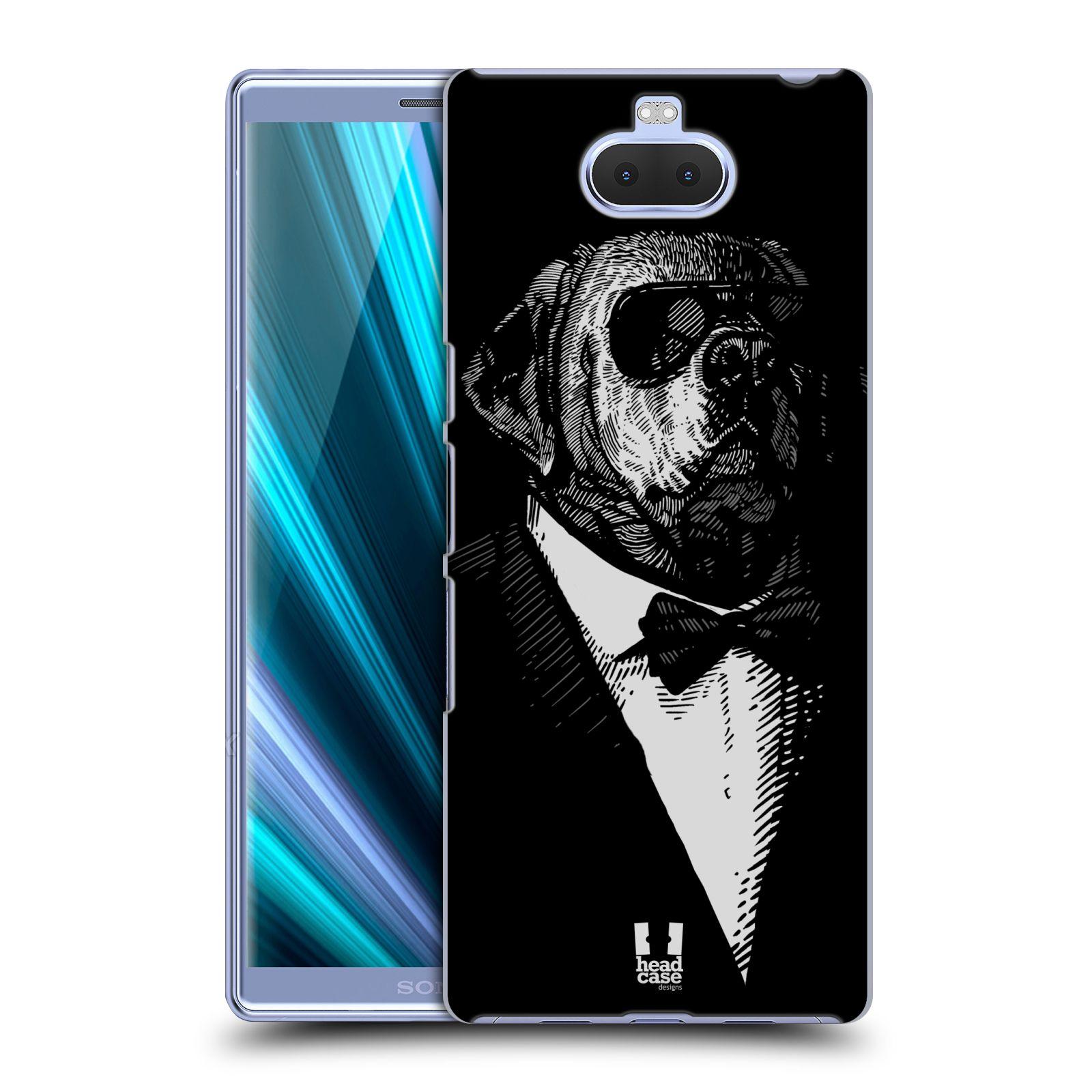 Pouzdro na mobil Sony Xperia 10 - Head Case - vzor Zvíře v obleku pes