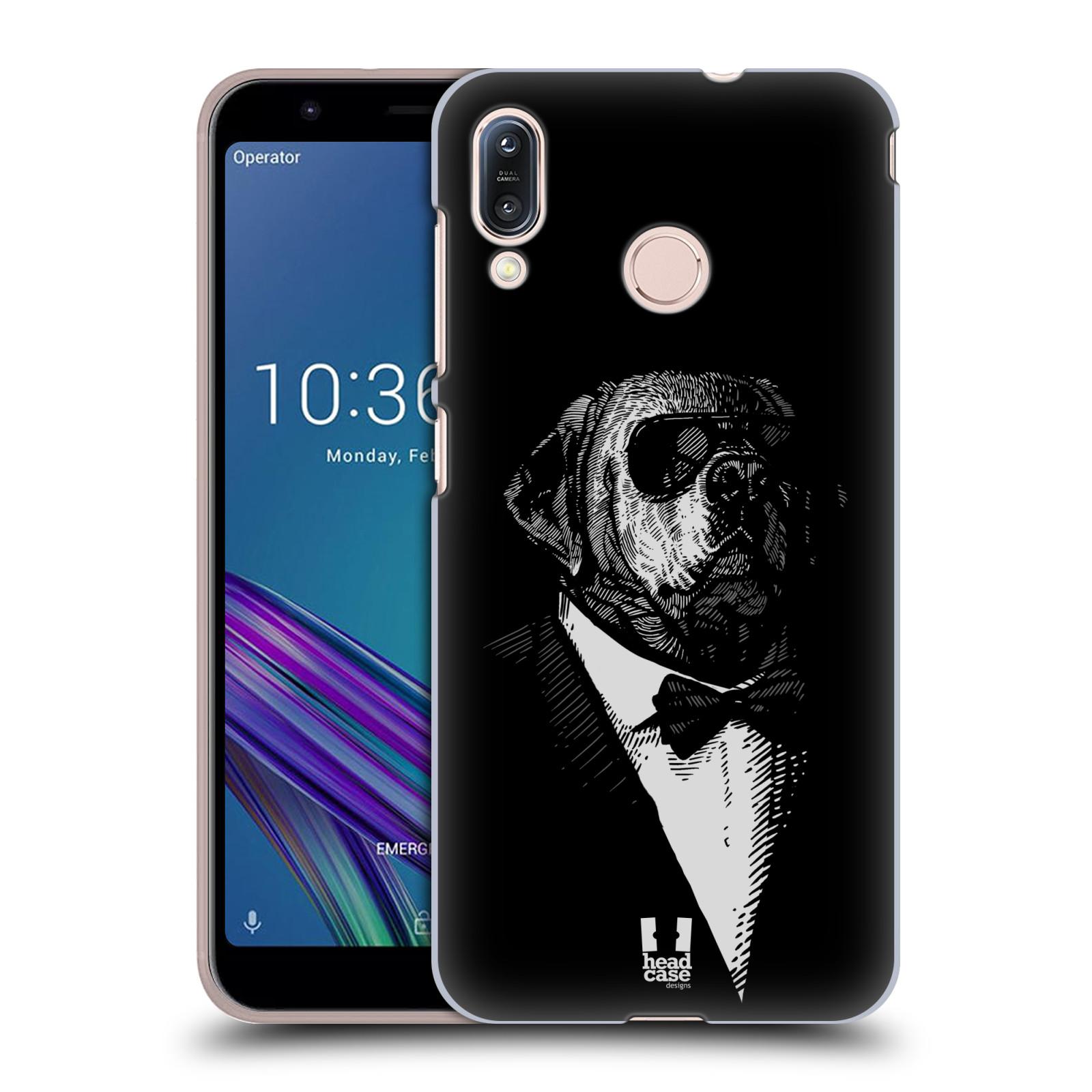 Pouzdro na mobil Asus Zenfone Max M1 (ZB555KL) - HEAD CASE - vzor Zvíře v obleku pes