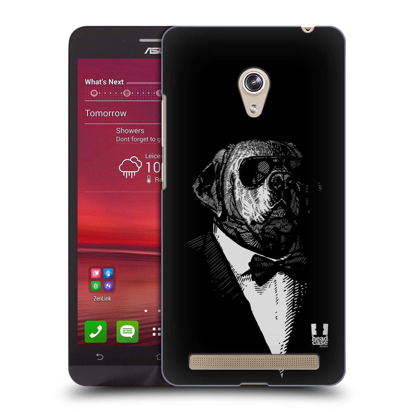 HEAD CASE plastový obal na mobil Asus Zenfone 6 vzor Zvíře v obleku pes
