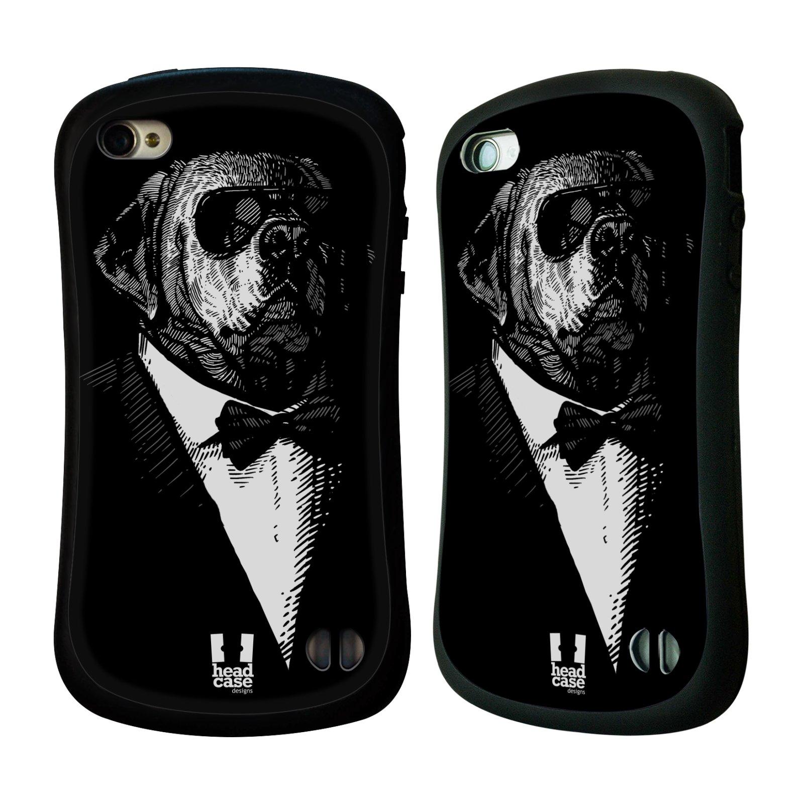 HEAD CASE silikon/plast odolný obal na mobil Apple Iphone 4/4S vzor Zvíře v obleku pes