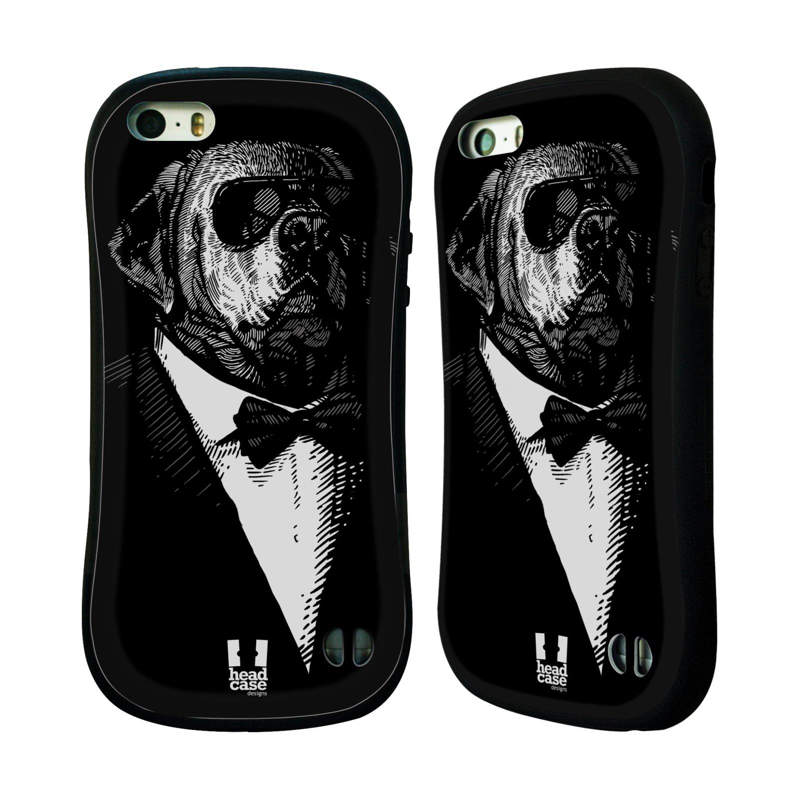 HEAD CASE silikon/plast odolný obal na mobil Apple Iphone 5/5S vzor Zvíře v obleku pes