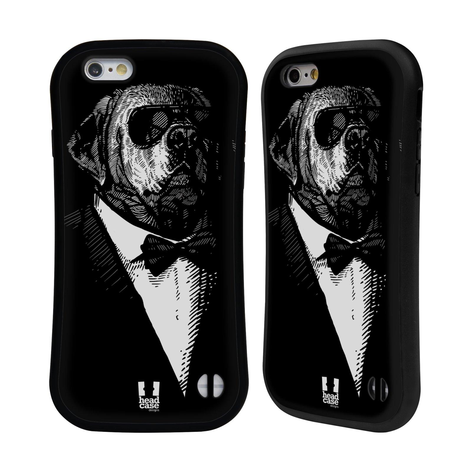 HEAD CASE silikon/plast odolný obal na mobil Apple Iphone 6/6S vzor Zvíře v obleku pes