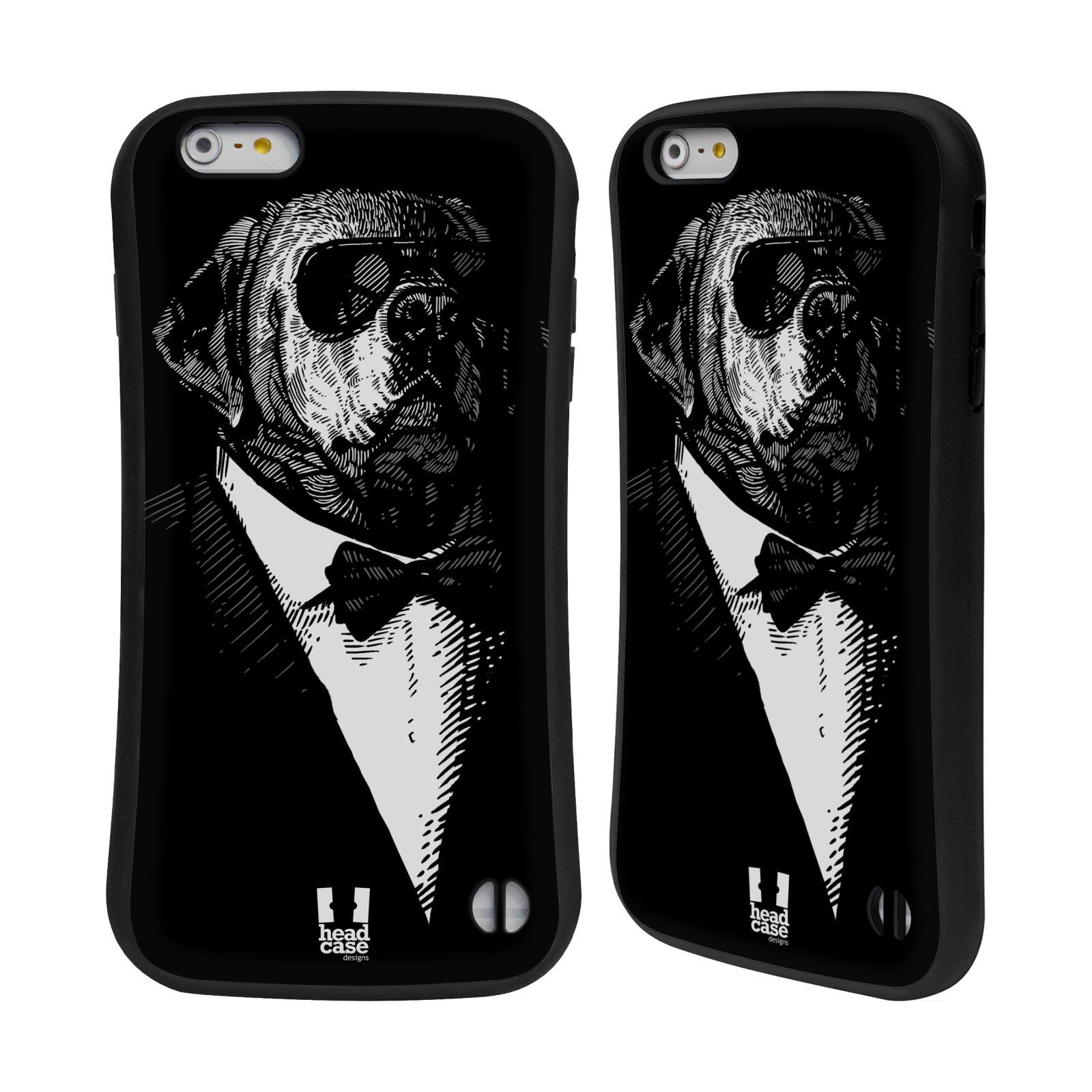 HEAD CASE silikon/plast odolný obal na mobil Apple Iphone 6 PLUS / 6S PLUS vzor Zvíře v obleku pes