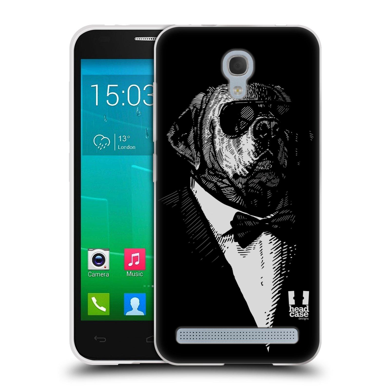 HEAD CASE silikonový obal na mobil Alcatel Idol 2 MINI S 6036Y vzor Zvíře v obleku pes
