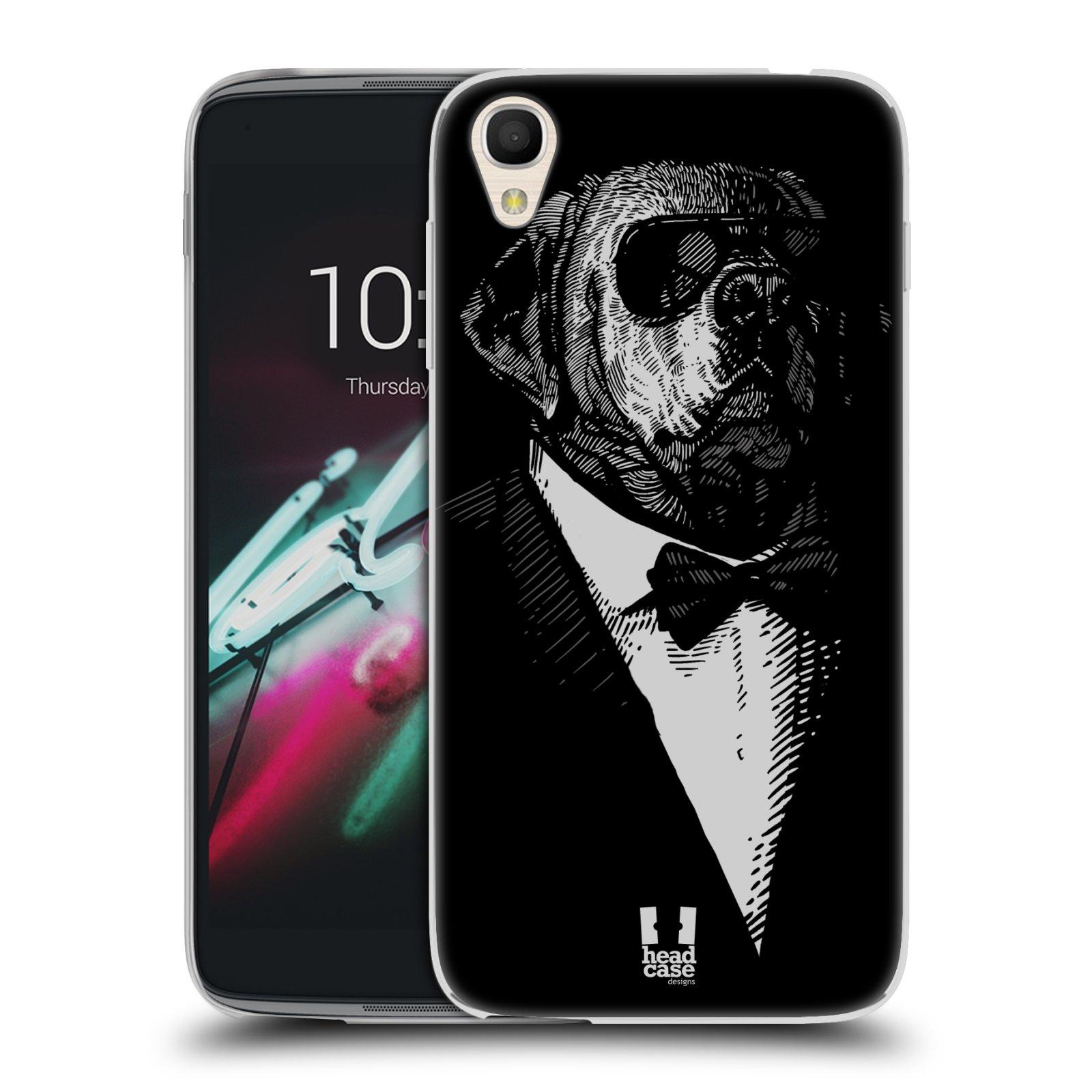 HEAD CASE silikonový obal na mobil Alcatel Idol 3 OT-6039Y (4.7) vzor Zvíře v obleku pes