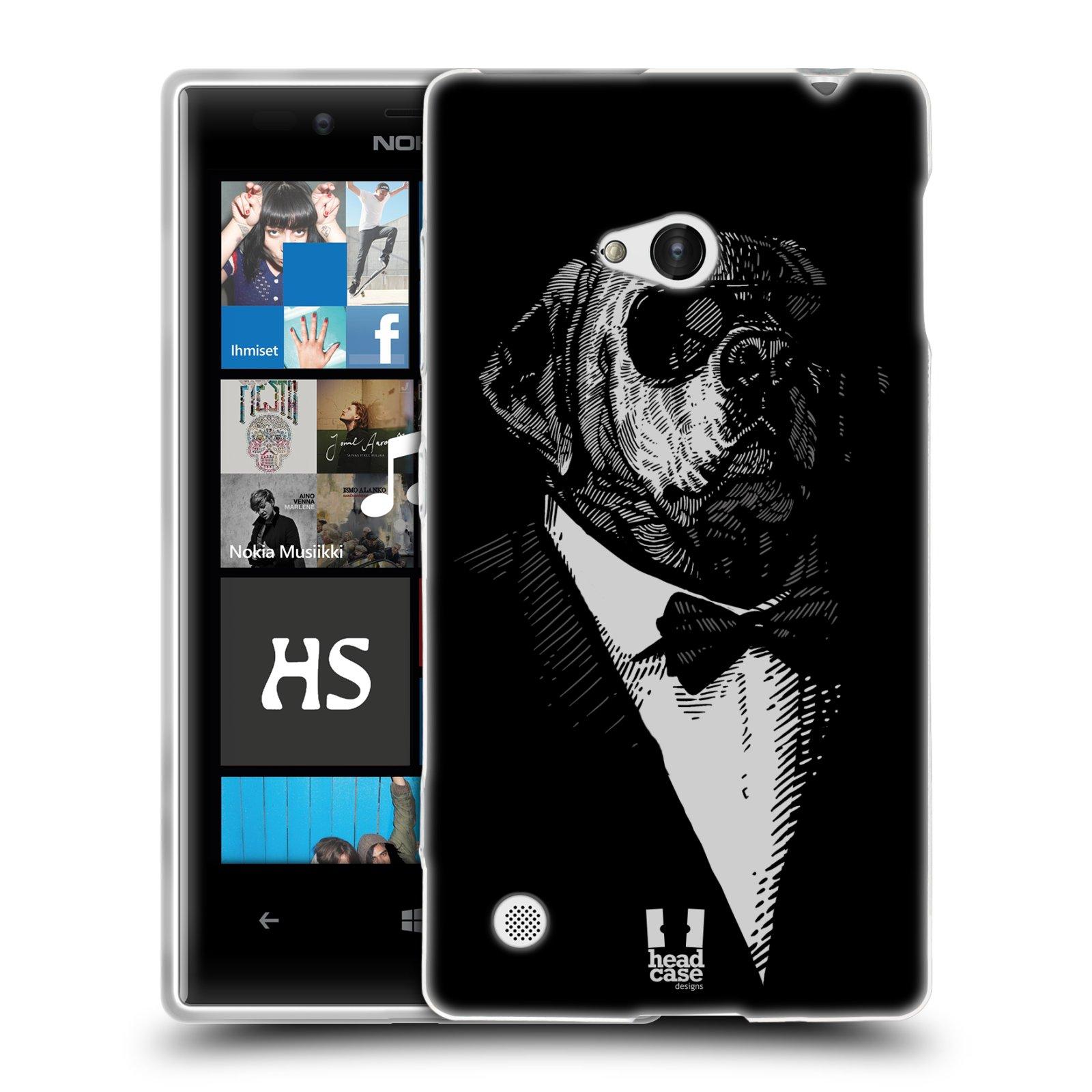 HEAD CASE silikonový obal na mobil NOKIA Lumia 720 vzor Zvíře v obleku pes
