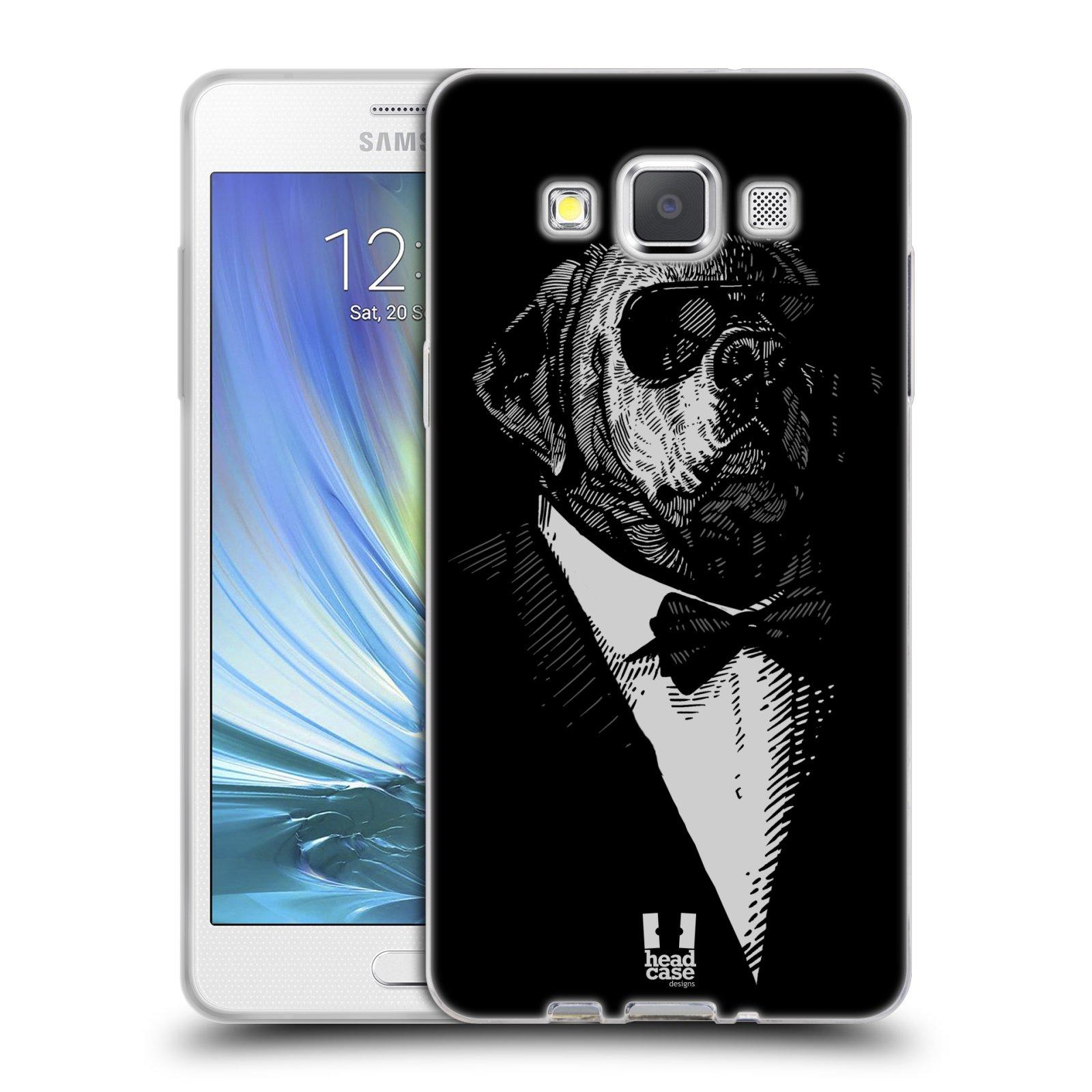 HEAD CASE silikonový obal na mobil Samsung Galaxy A5 vzor Zvíře v obleku pes