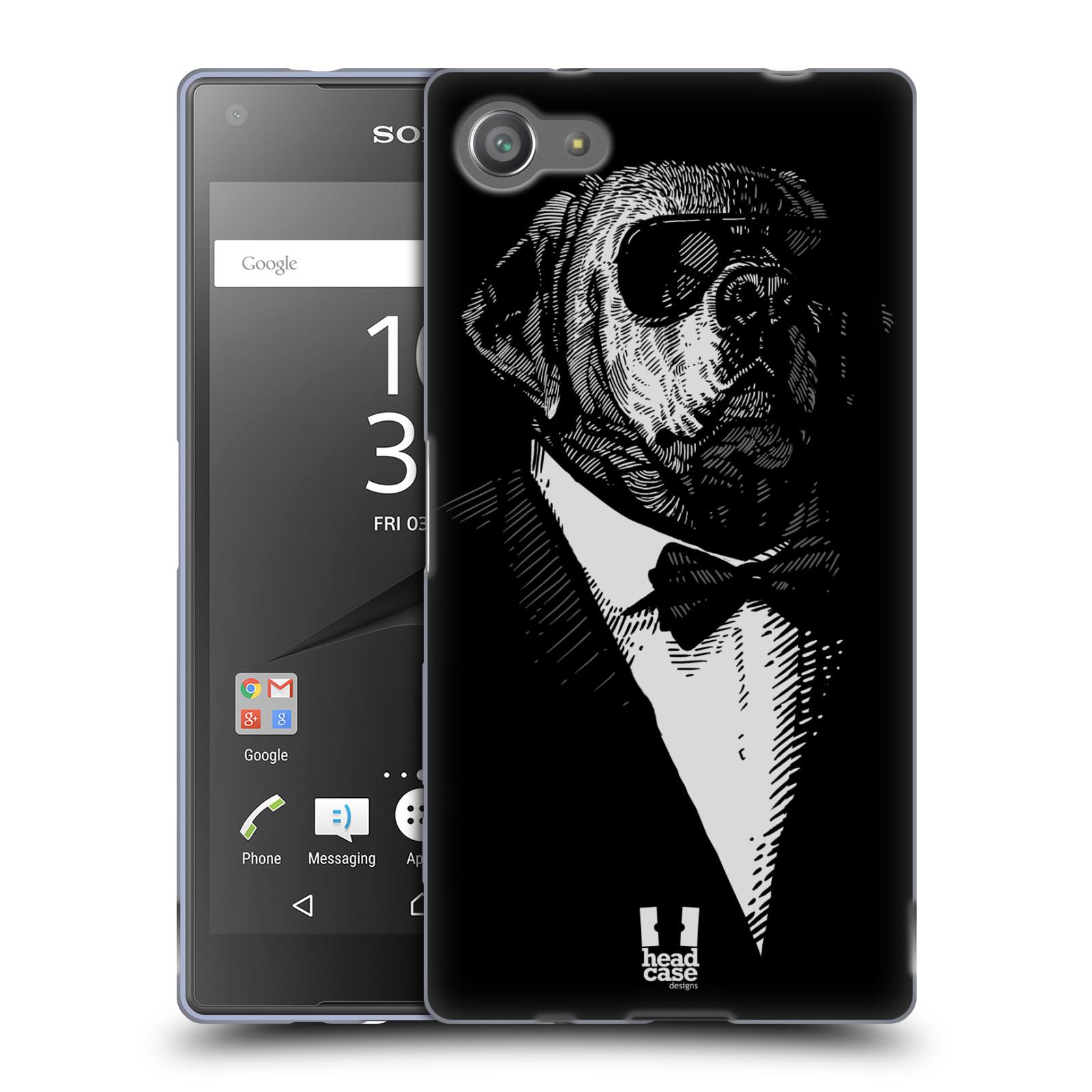 HEAD CASE silikonový obal na mobil Sony Xperia Z5 COMPACT vzor Zvíře v obleku pes
