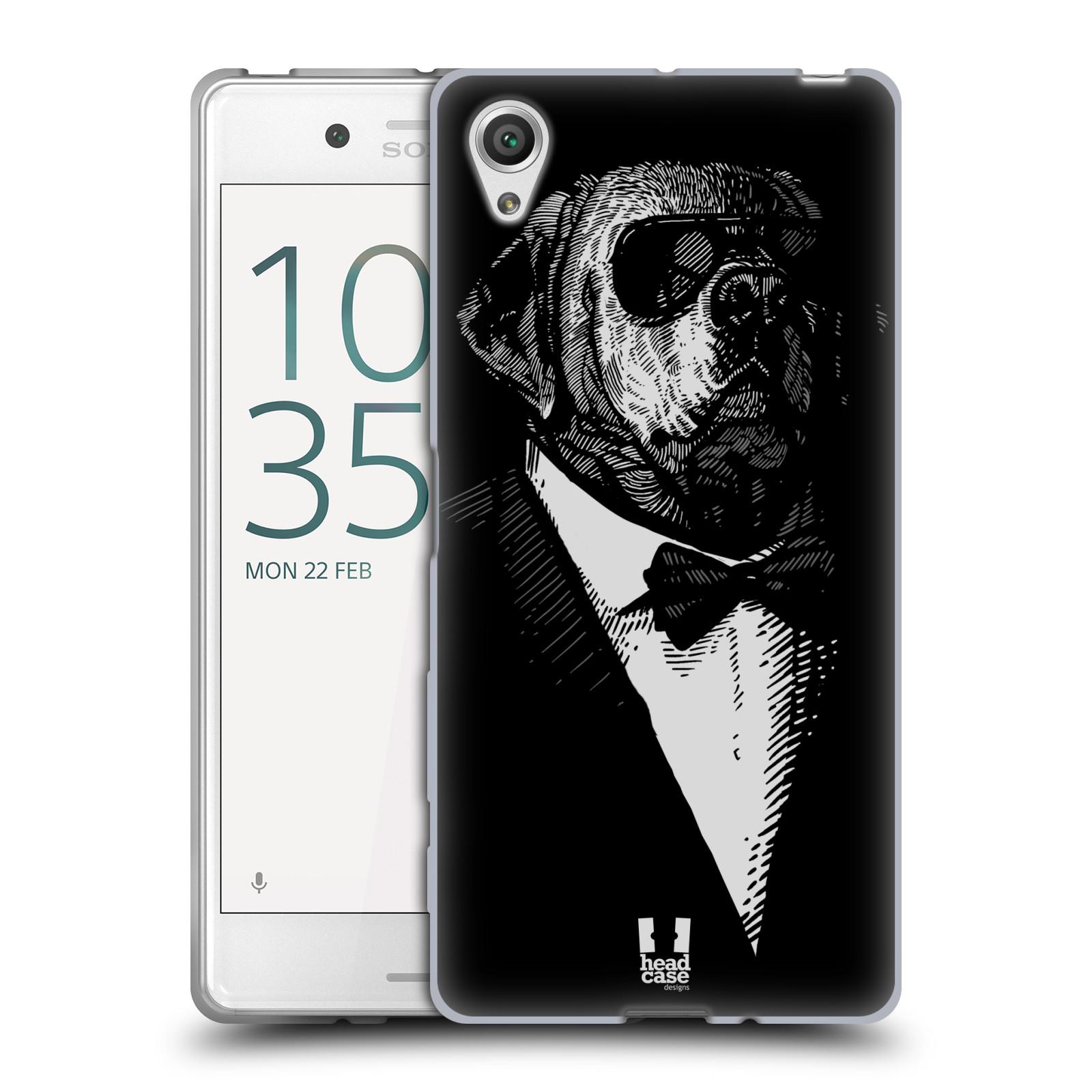 HEAD CASE silikonový obal na mobil Sony Xperia X / X DUAL vzor Zvíře v obleku pes