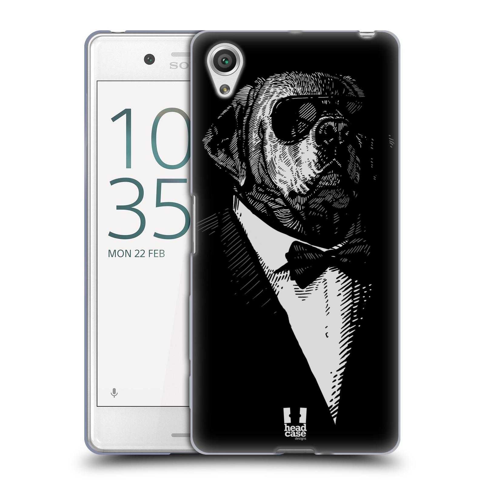HEAD CASE silikonový obal na mobil Sony Xperia X PERFORMANCE (F8131, F8132) vzor Zvíře v obleku pes