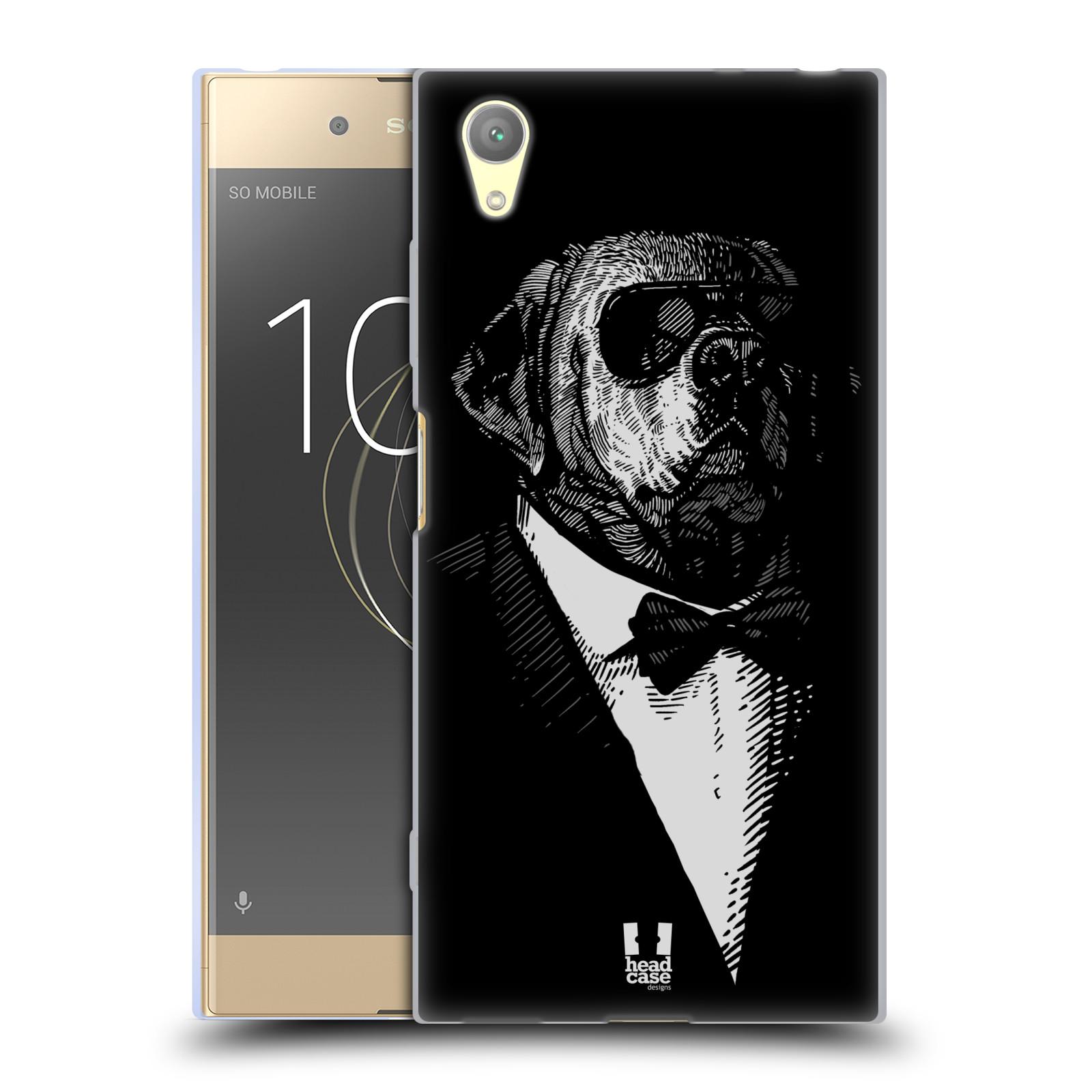 HEAD CASE silikonový obal na mobil Sony Xperia XA1 PLUS vzor Zvíře v obleku pes