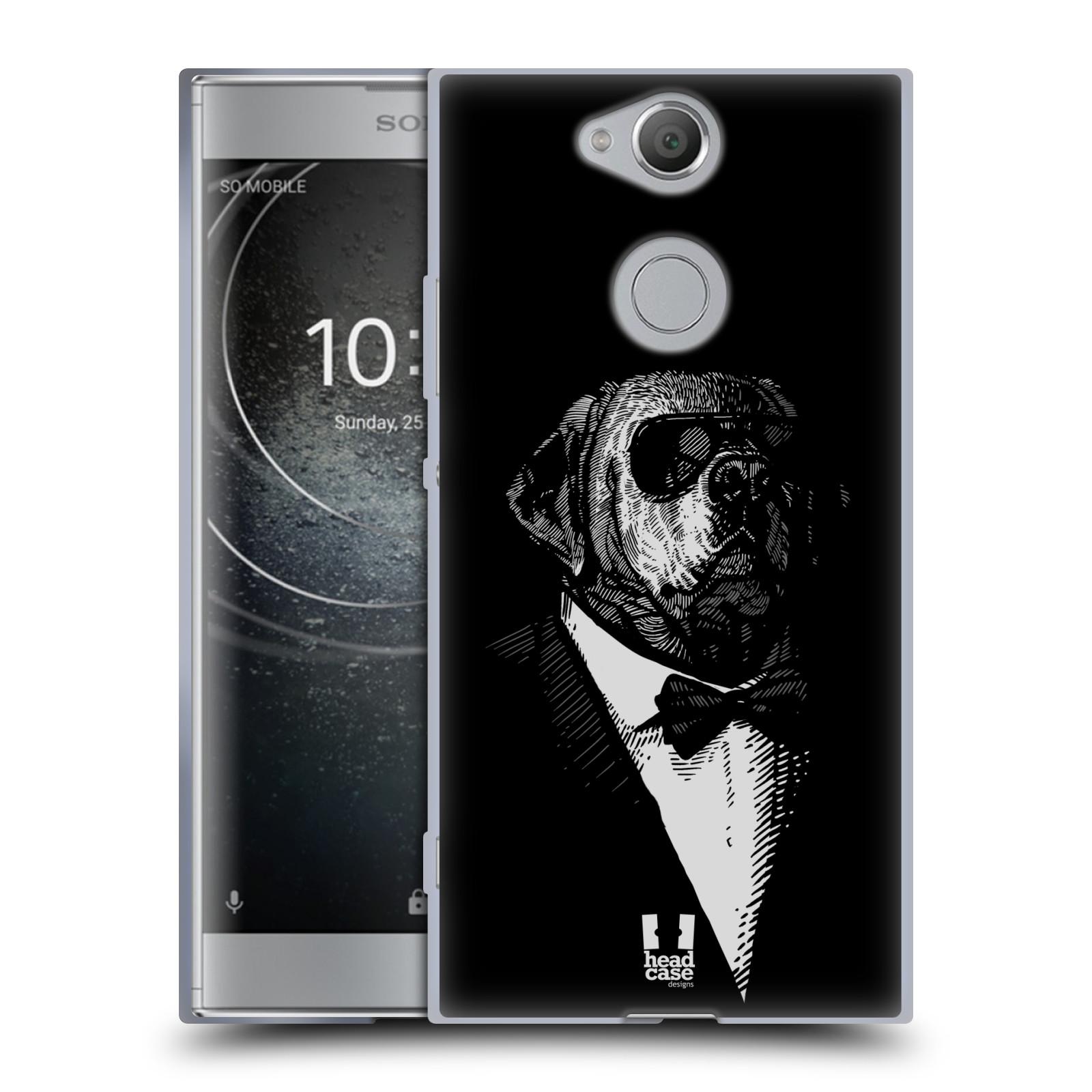Pouzdro na mobil Sony Xperia XA2 (DUAL SIM, SINGLE SIM) vzor Zvíře v obleku pes