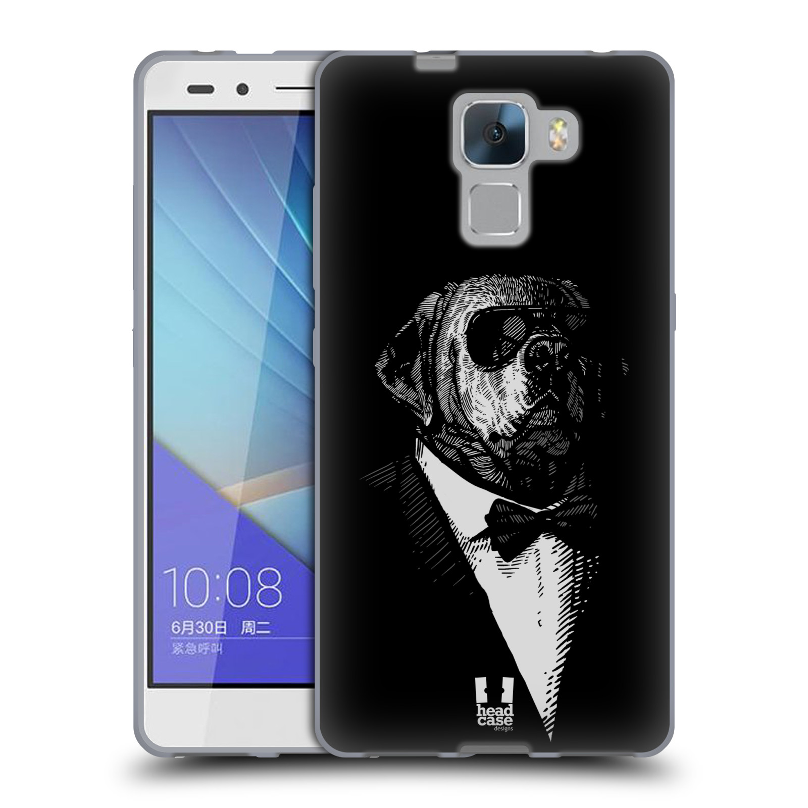 HEAD CASE silikonový obal na mobil HUAWEI HONOR 7 vzor Zvíře v obleku pes