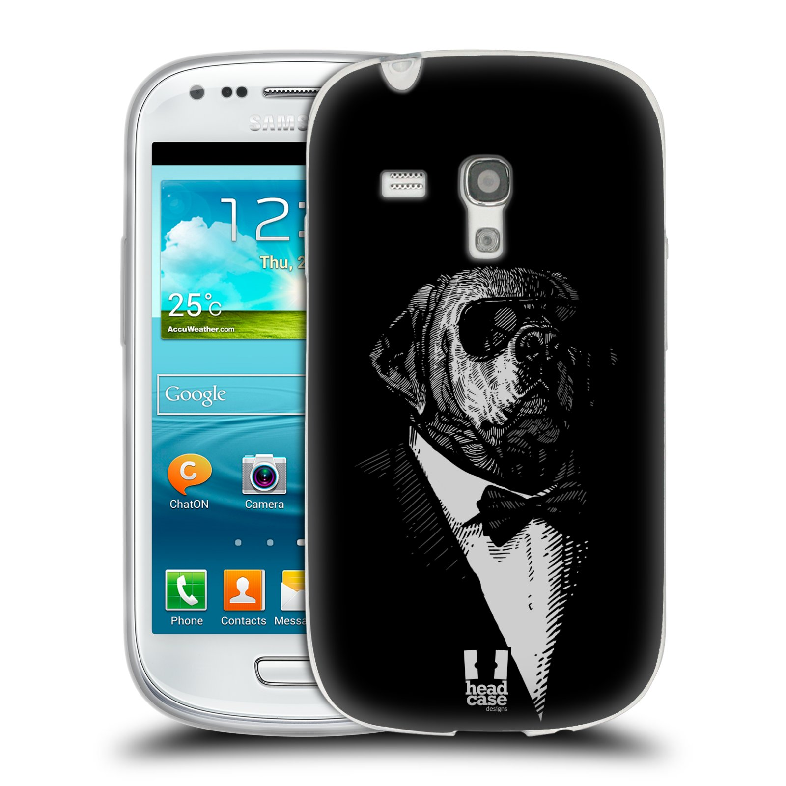 HEAD CASE silikonový obal na mobil Samsung Galaxy S3 MINI i8190 vzor Zvíře v obleku pes