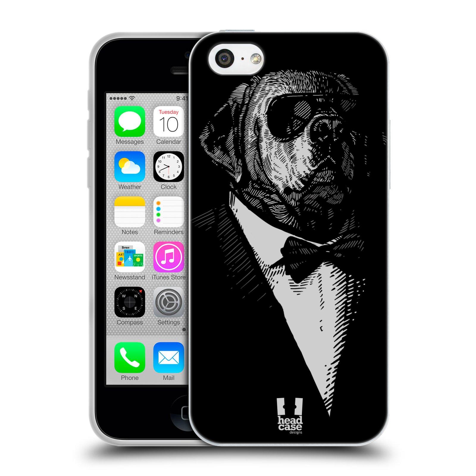 HEAD CASE silikonový obal na mobil Apple Iphone 5C vzor Zvíře v obleku pes
