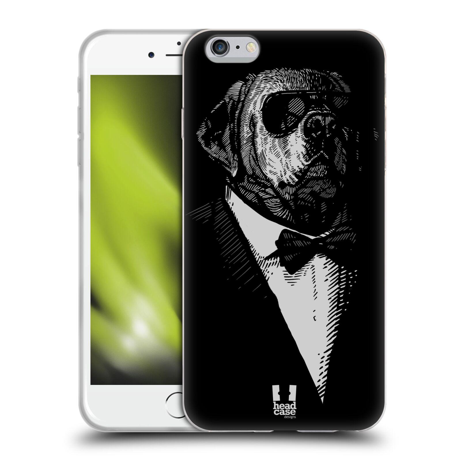 HEAD CASE silikonový obal na mobil Apple Iphone 6 PLUS/ 6S PLUS vzor Zvíře v obleku pes