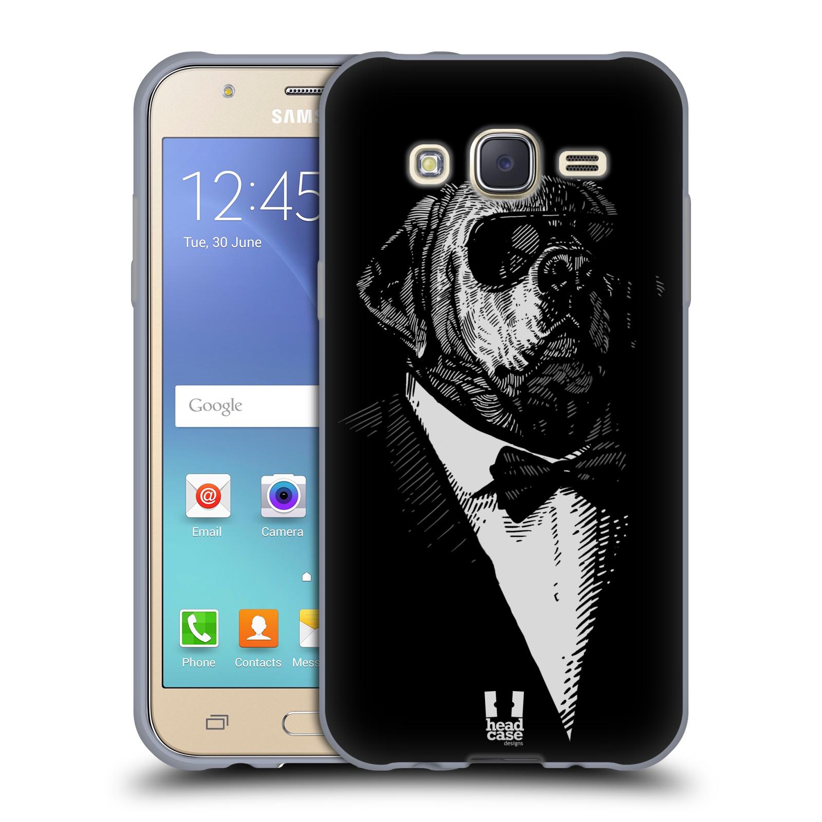 HEAD CASE silikonový obal na mobil Samsung Galaxy J5, J500, (J5 DUOS) vzor Zvíře v obleku pes