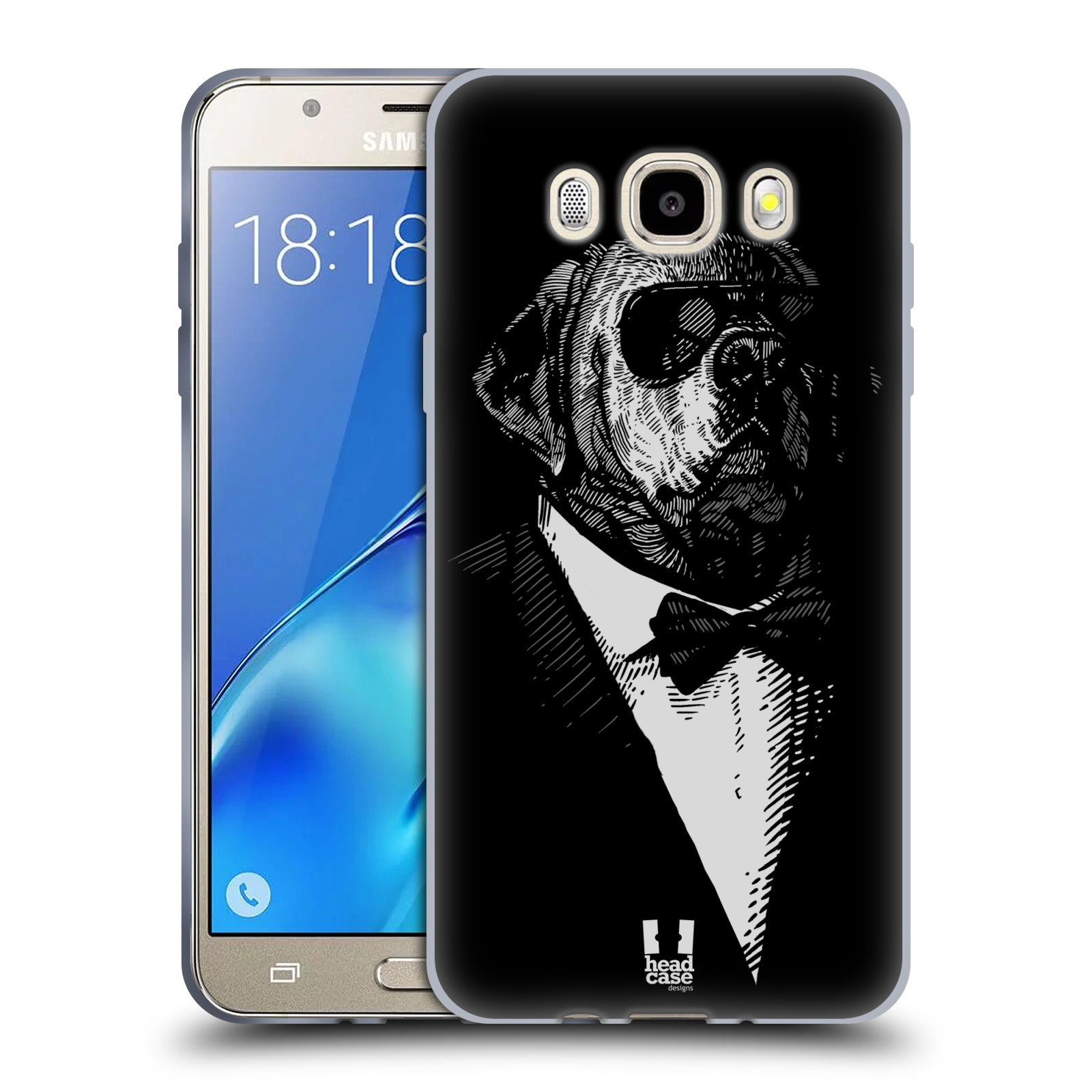 HEAD CASE silikonový obal, kryt na mobil Samsung Galaxy J5 2016, J510, J510F, (J510F DUAL SIM) vzor Zvíře v obleku pes