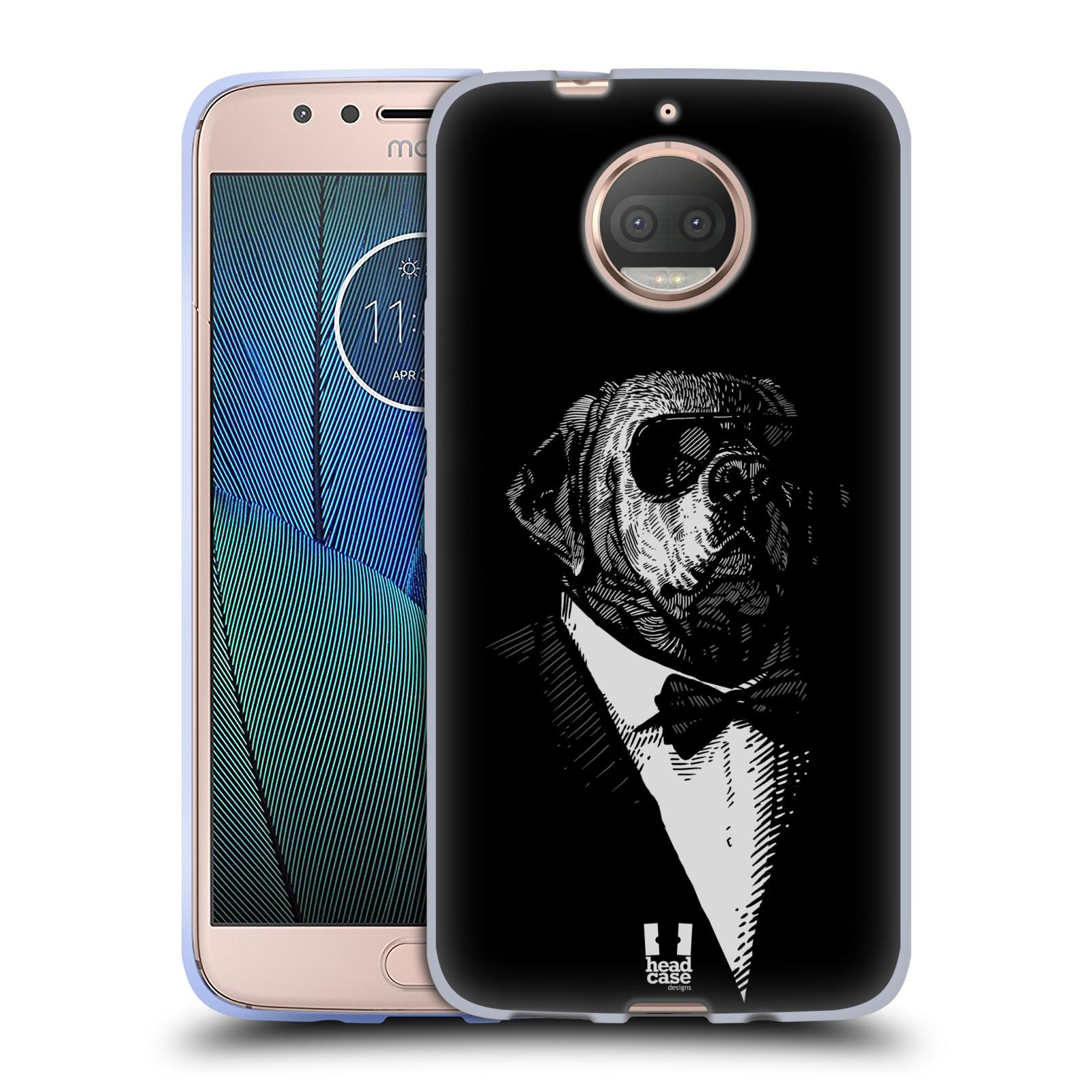 HEAD CASE silikonový obal na mobil Lenovo Moto G5s PLUS vzor Zvíře v obleku pes