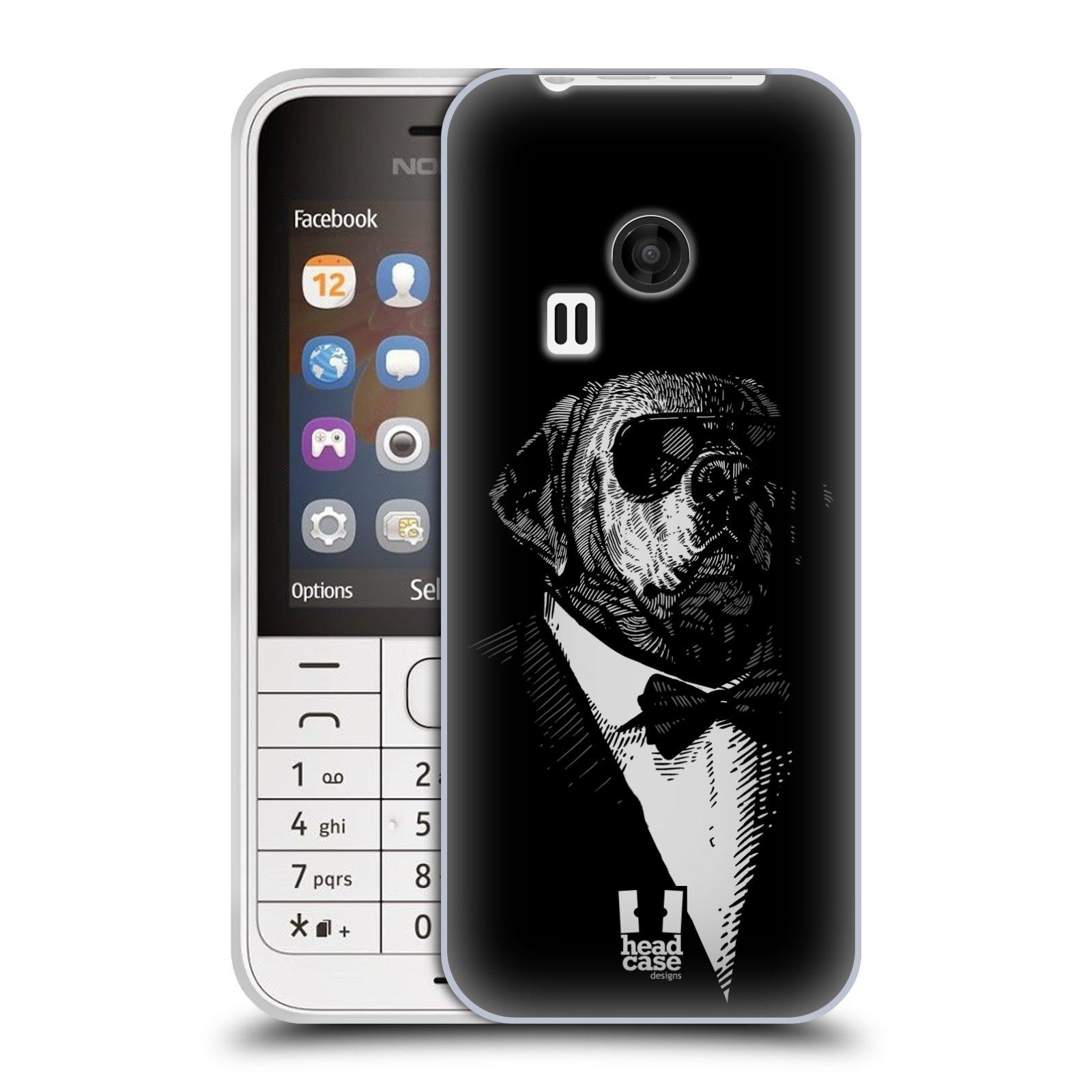 HEAD CASE silikonový obal na mobil NOKIA 220 / NOKIA 220 DUAL SIM vzor Zvíře v obleku pes